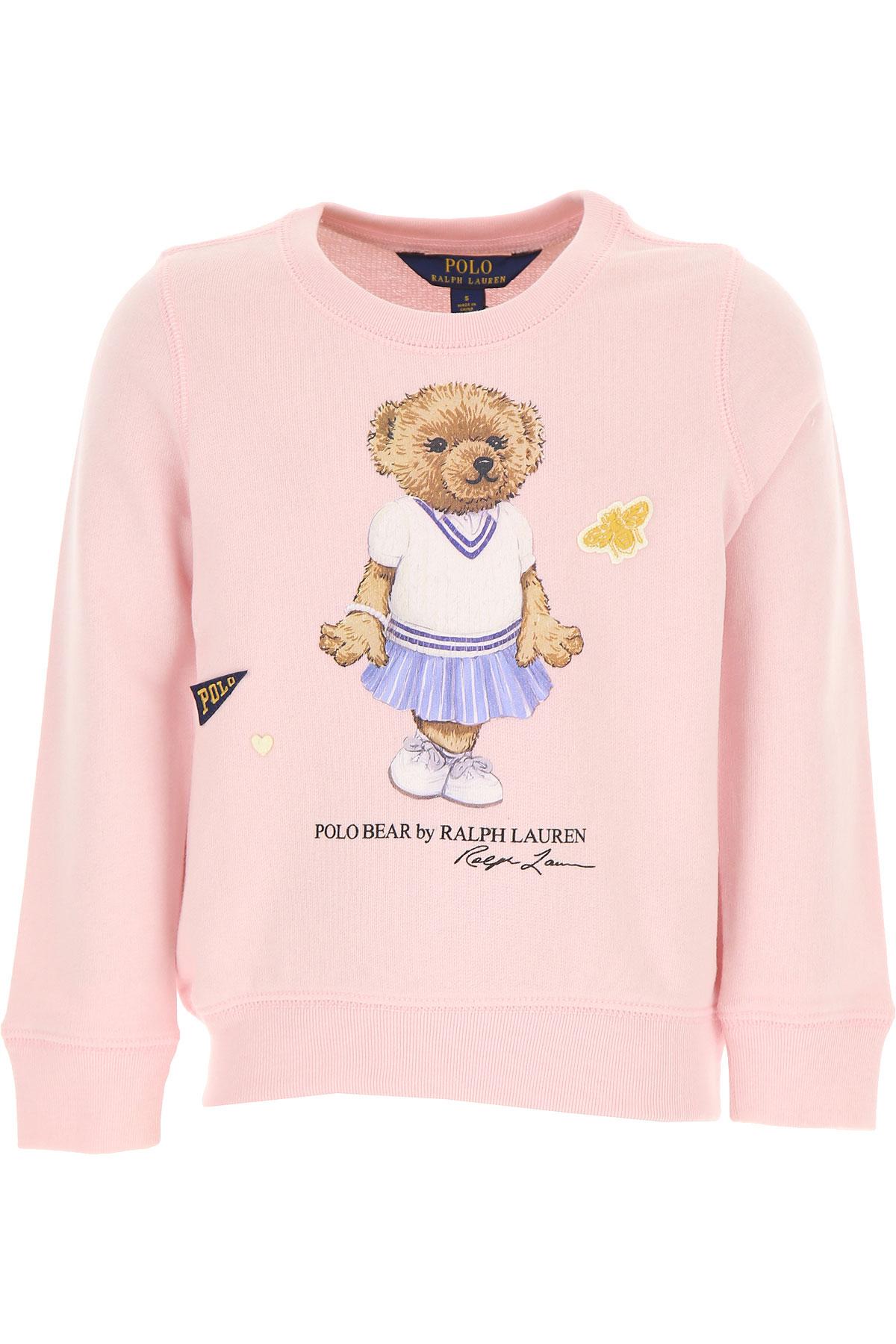 Ralph Lauren Sweatshirts Et Hoodies Enfant Pour Fille Pas Cher En Soldes, Rose, Coton, 2019, 5Y 6Y