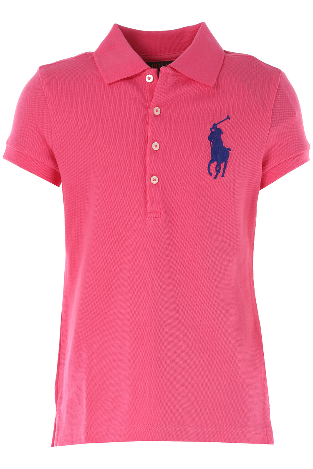 Image of Ralph Lauren Kids Polo Shirt for Girls On Sale in Outlet, Fuchsia, Cotton, 2017, 2Y 4Y 6Y