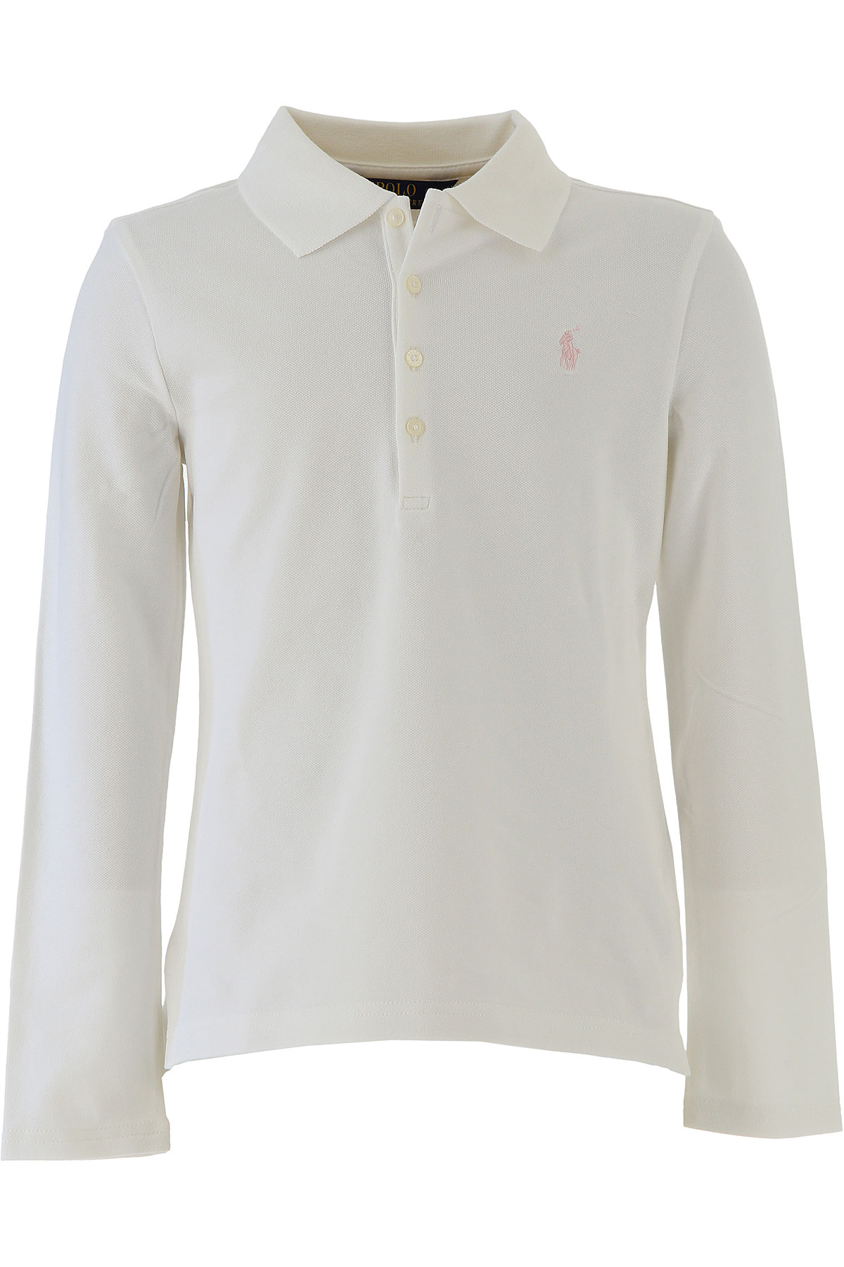 Image of Ralph Lauren Kids Polo Shirt for Girls, White, Cotton, 2017, 3Y 4Y 5Y 6Y