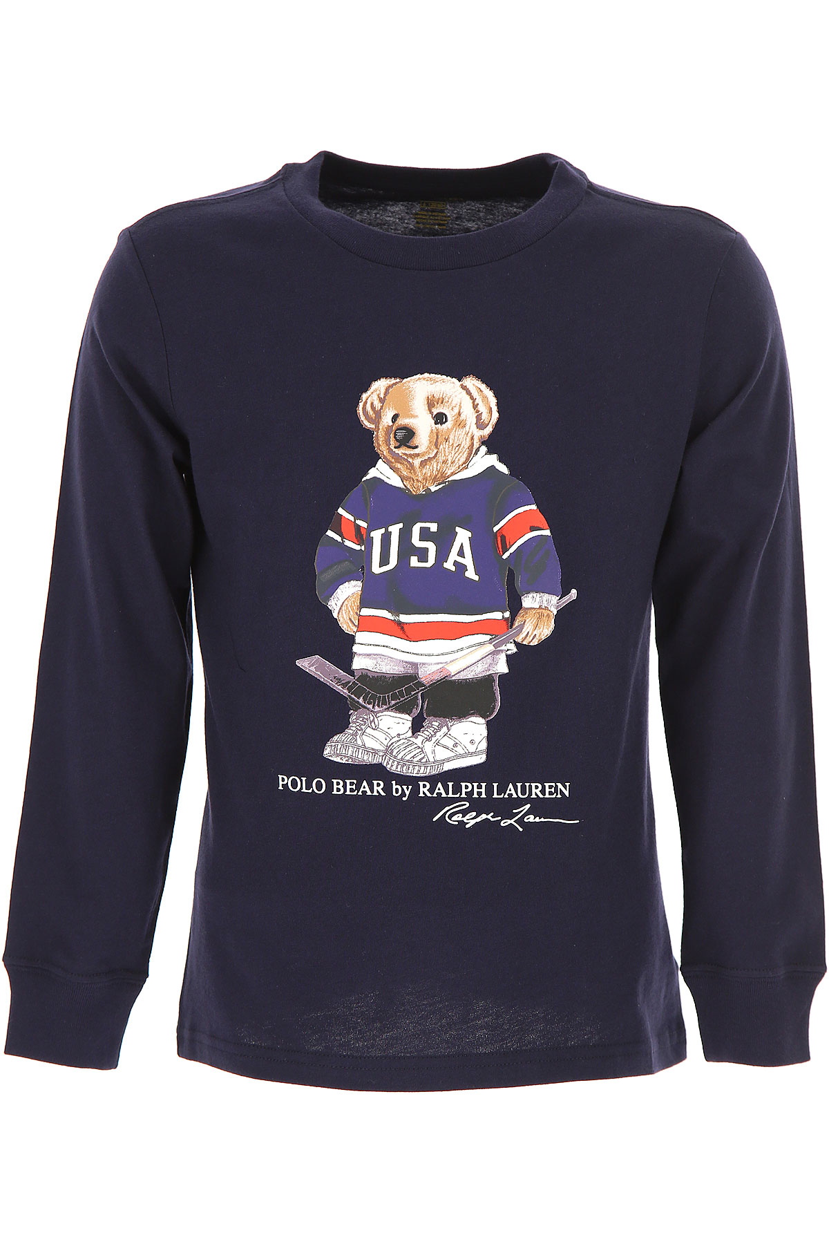 Ralph Lauren Kids T-Shirt for Boys, navy, Cotton, 2017, 2Y 4Y 6Y 7Y USA-484132