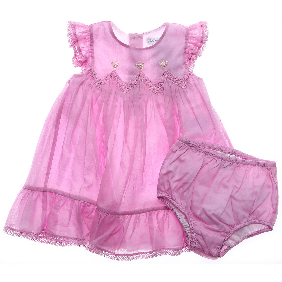 Image of Ralph Lauren Baby Girl Clothing On Sale in Outlet, Pink, Cotton, 2017, 6M 9M