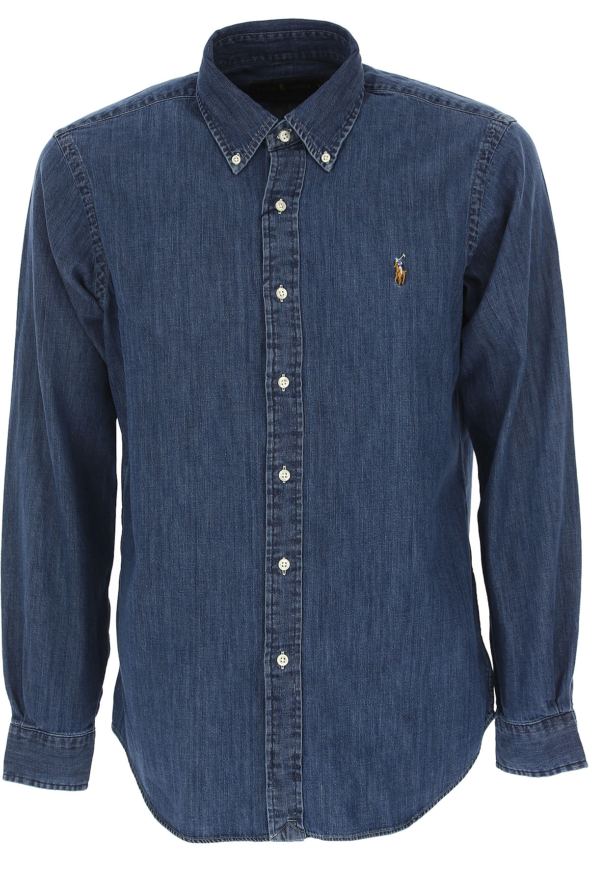 Ralph Lauren Shirt for Men On Sale, Denim Blue, Cotton, 2017, S • IT 46 M • IT 48 L • IT 50 XL • IT 52