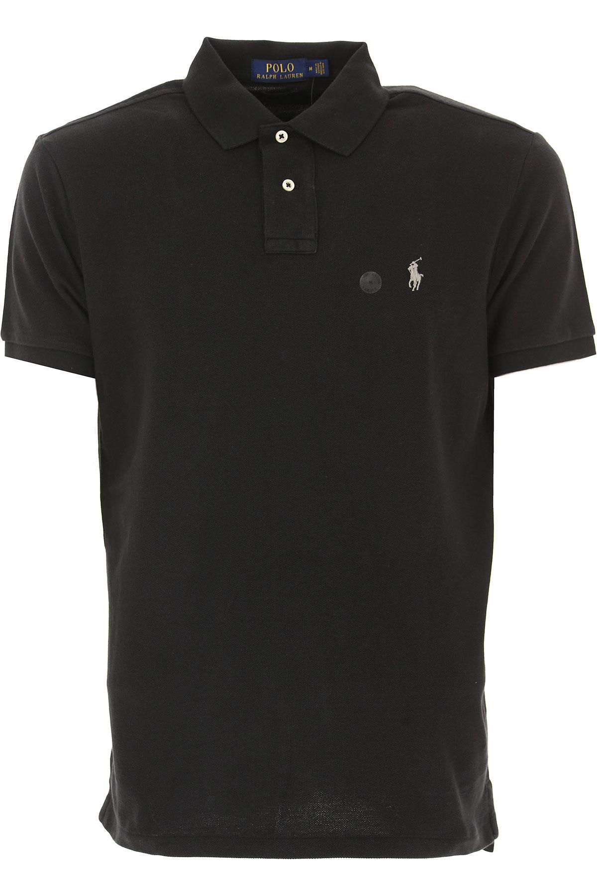 Ralph Lauren Polo Shirt for Men, Black, Cotton, 2017, L M S XL USA-444293