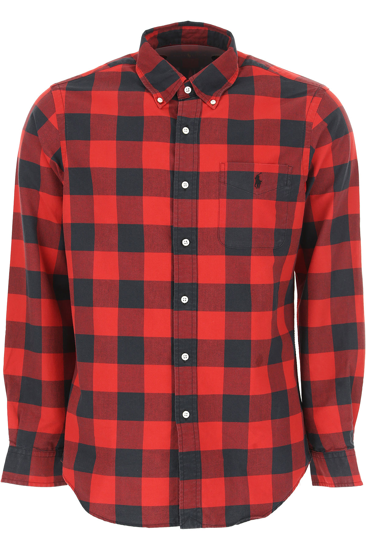 Ralph Lauren Shirt for Men On Sale, Red, Cotton, 2017, M • IT 48 XL • IT 52 USA-464563
