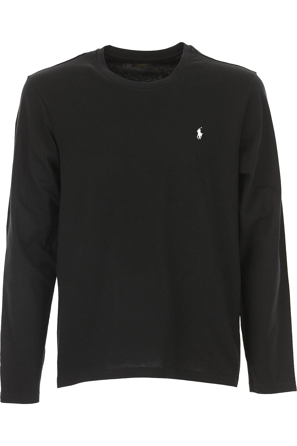 Ralph Lauren T-Shirt for Men, Black, Cotton, 2017, L M S XL XXL USA-438540