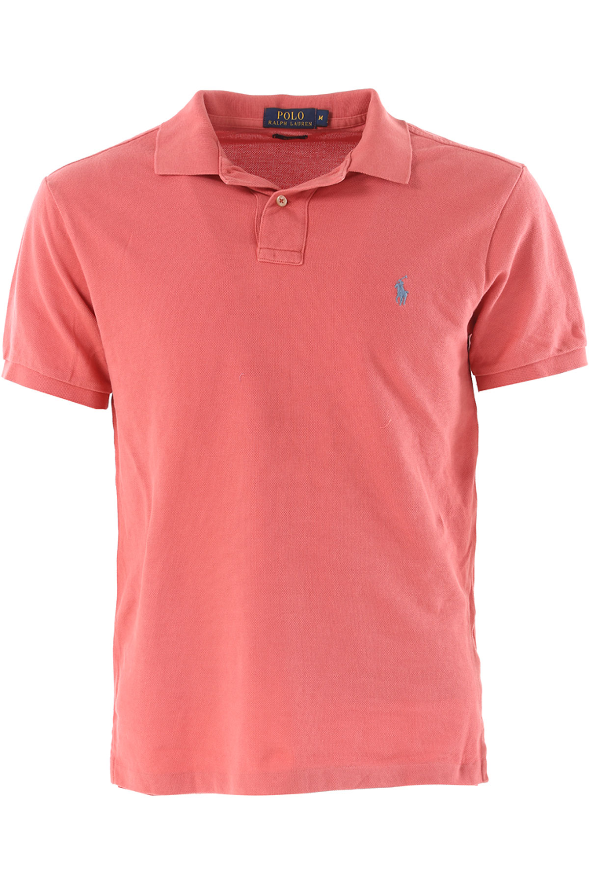 Ralph Lauren Polo Shirt for Men On Sale in Outlet, coral red, Cotton, 2017, S XL USA-392701