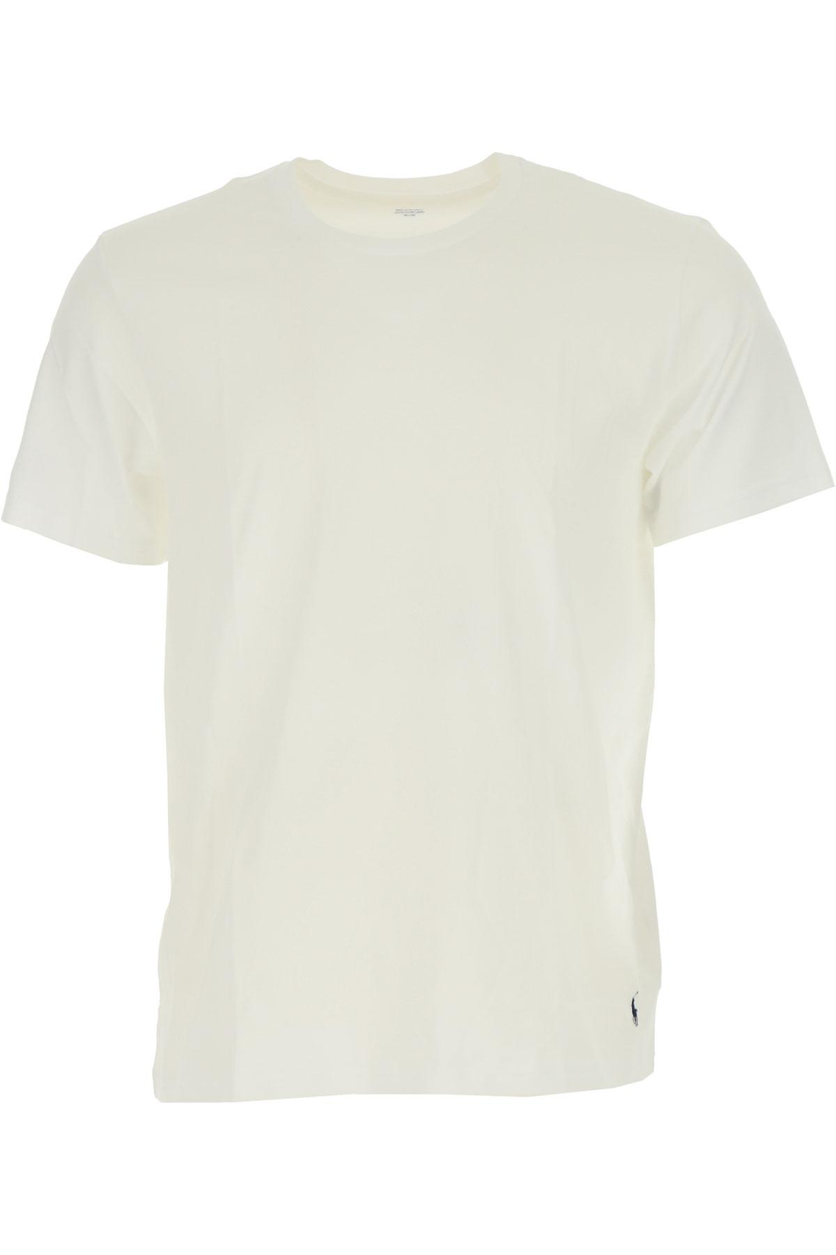 Image of Ralph Lauren T-Shirt for Men, White, Cotton, 2017, L M