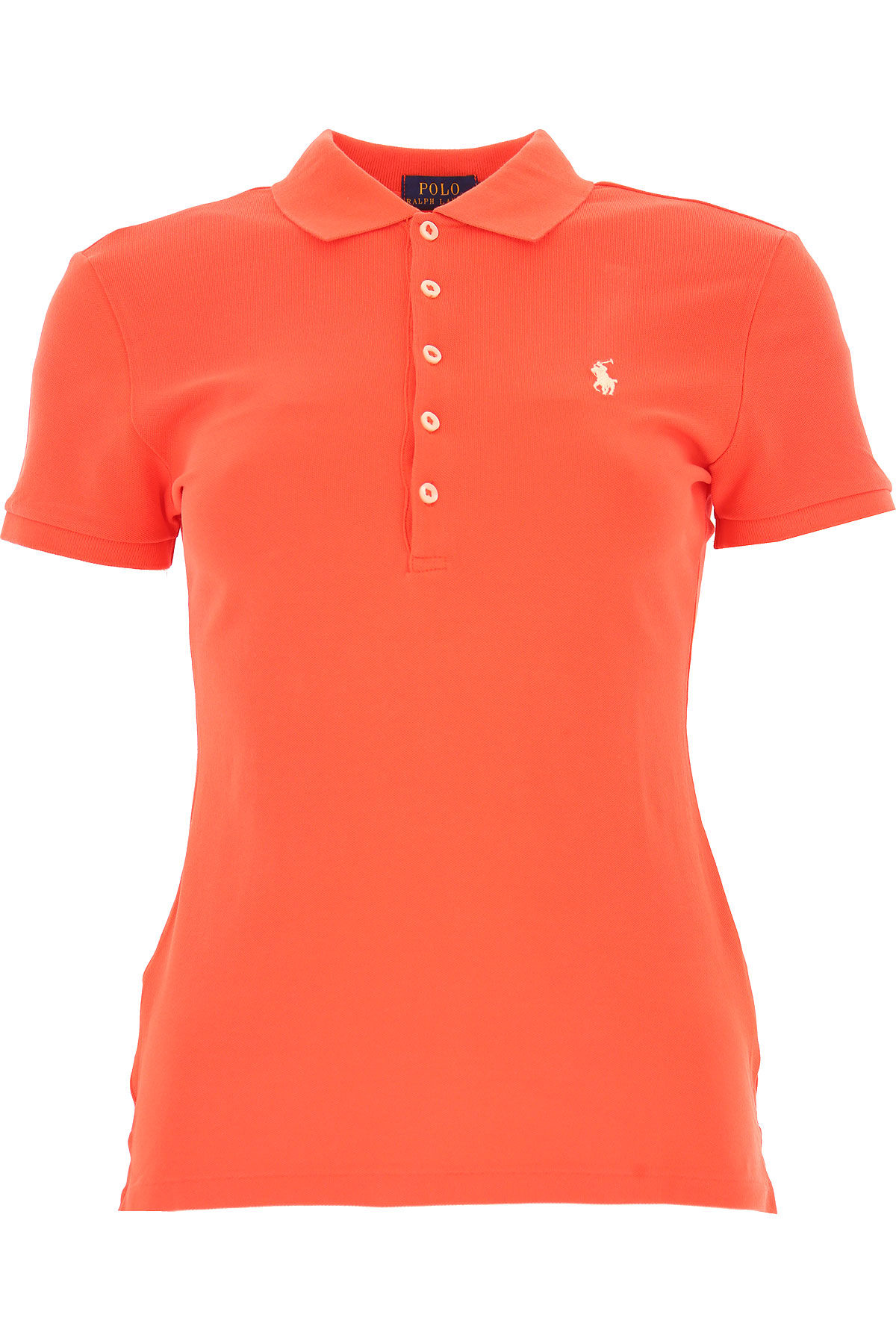 Image of Ralph Lauren Polo Shirt for Women On Sale, Red, Cotton, 2017, 2 4 6