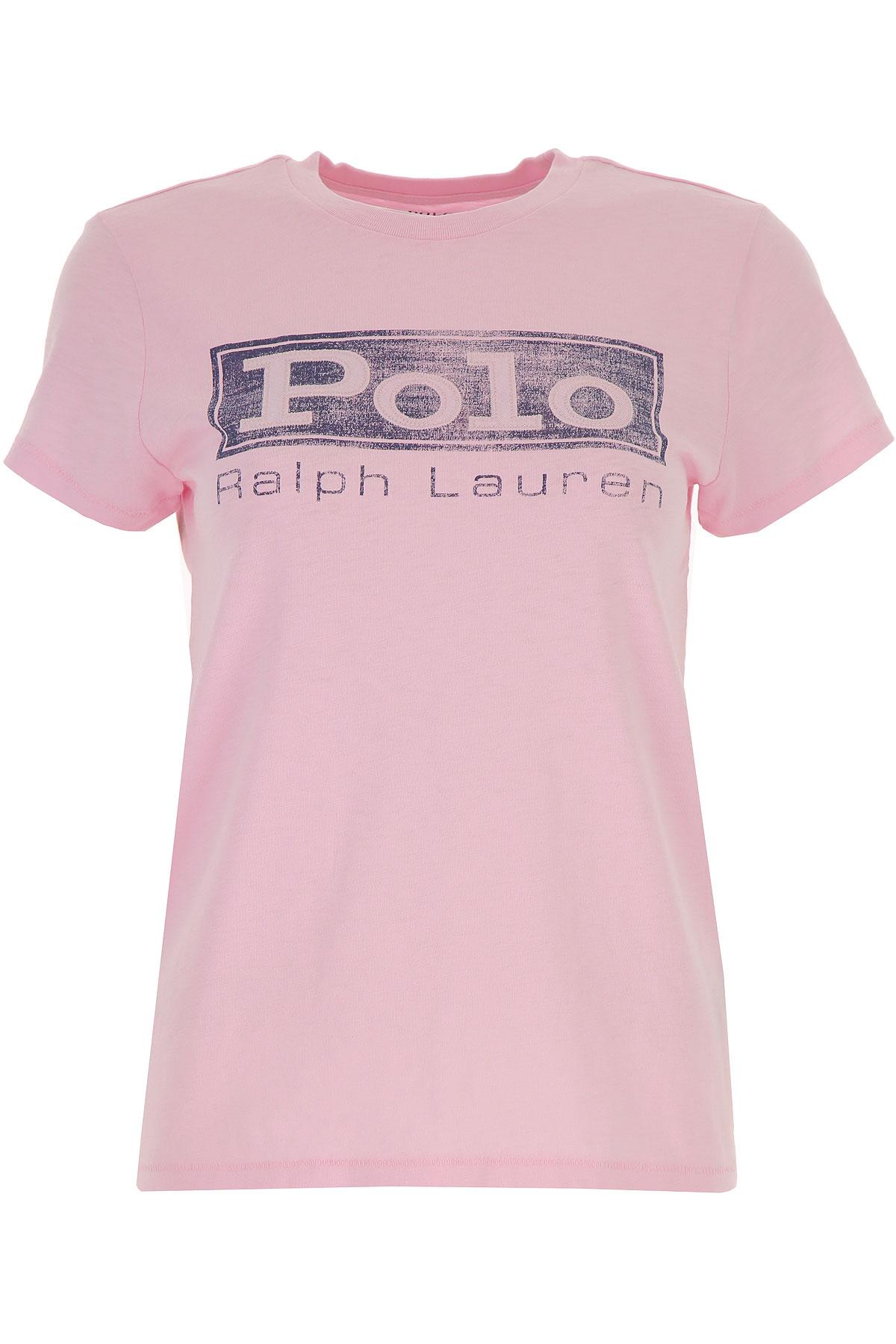 Ralph Lauren T-Shirt Voor Dames In Aanbieding, Roze, Katoen, 2019, L M XS