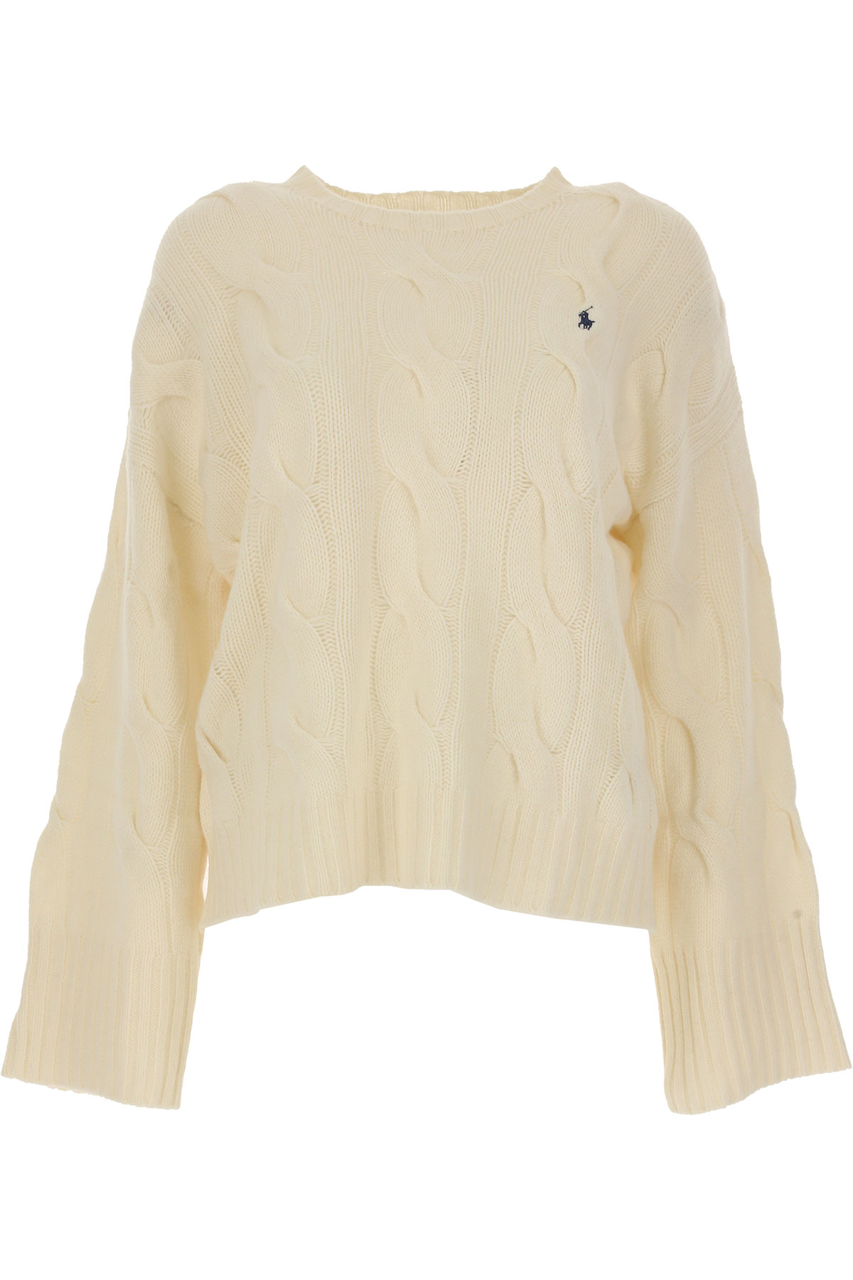 Ralph Lauren Sweater for Women Jumper On Sale, Cream, merino wool, 2017, 4 6