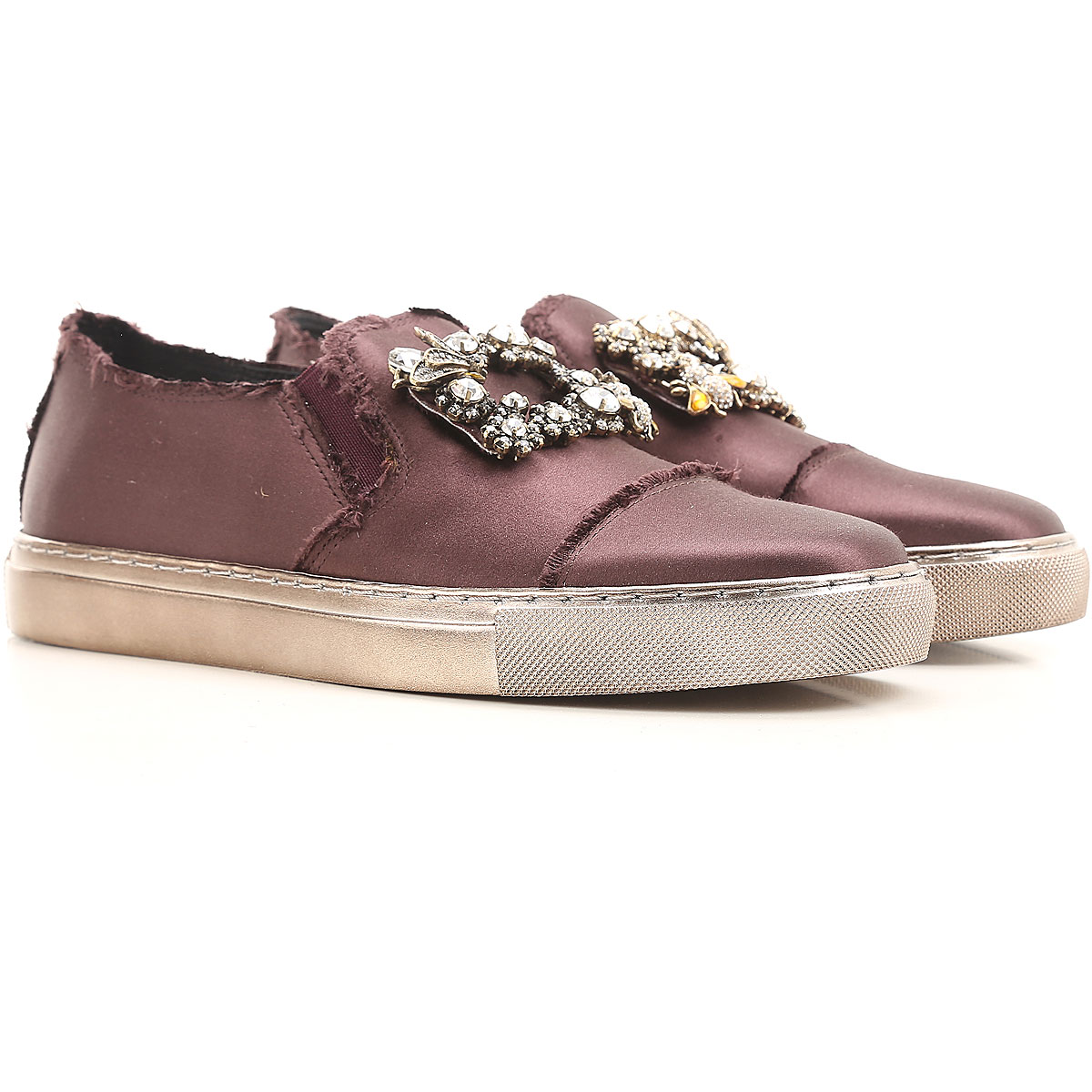 Image of Ras Sneakers for Women On Sale in Outlet, Purple Bordeaux, satin, 2017, 10 5 9