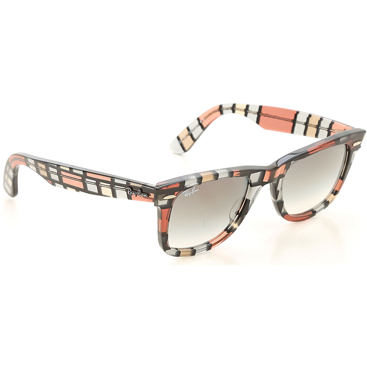 Ray Ban Sunglasses On Sale, Transparent Red, 2019