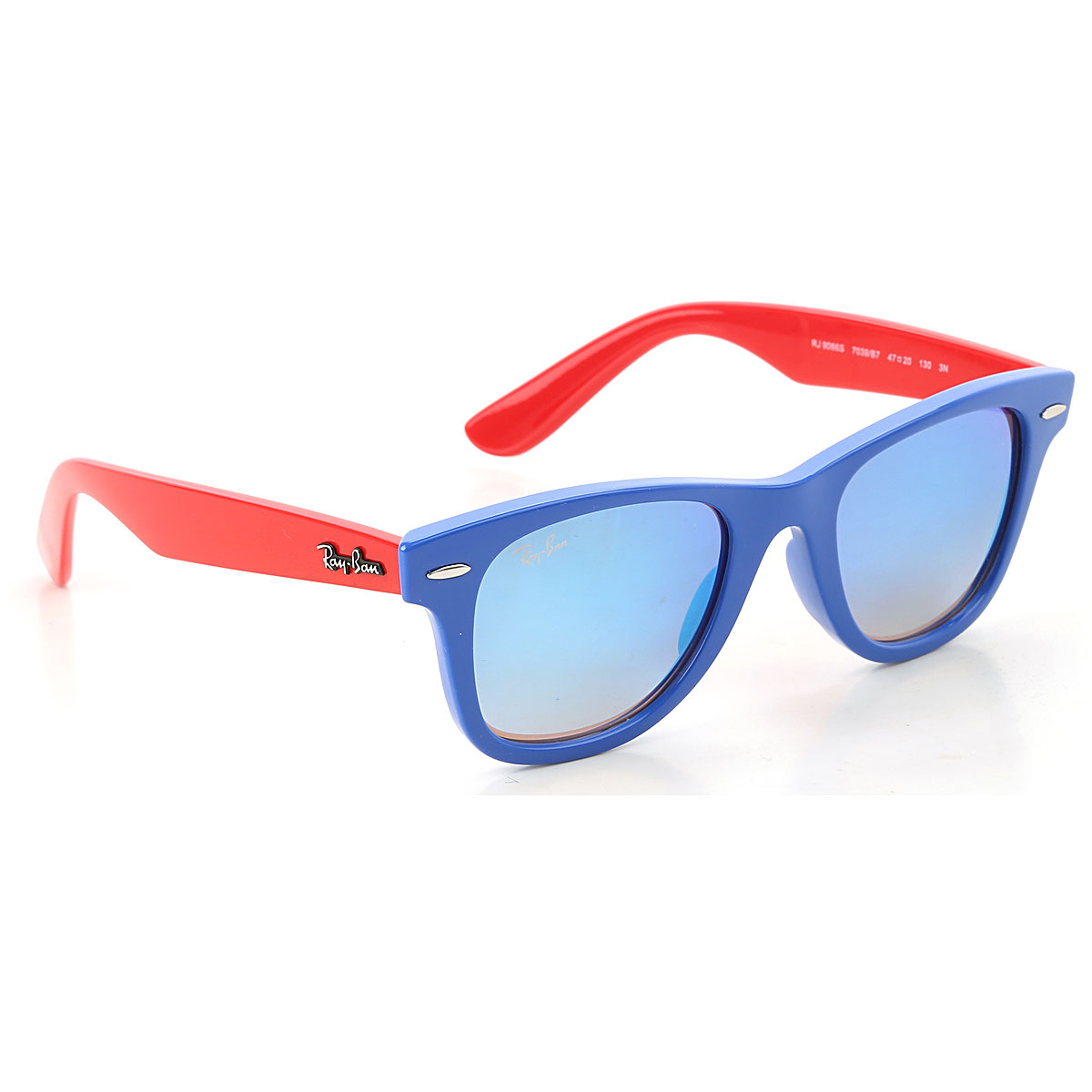 Image of Ray Ban Junior Kids Sunglasses for Boys On Sale, Electric Blue, 2017