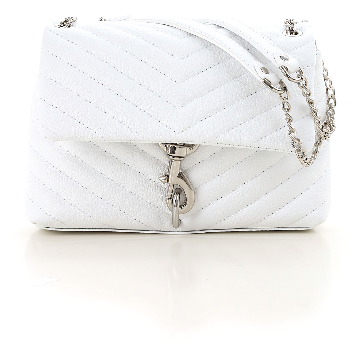 Rebecca Minkoff Shoulder Bag for Women On Sale in Outlet, Optic White, Leather, 2019