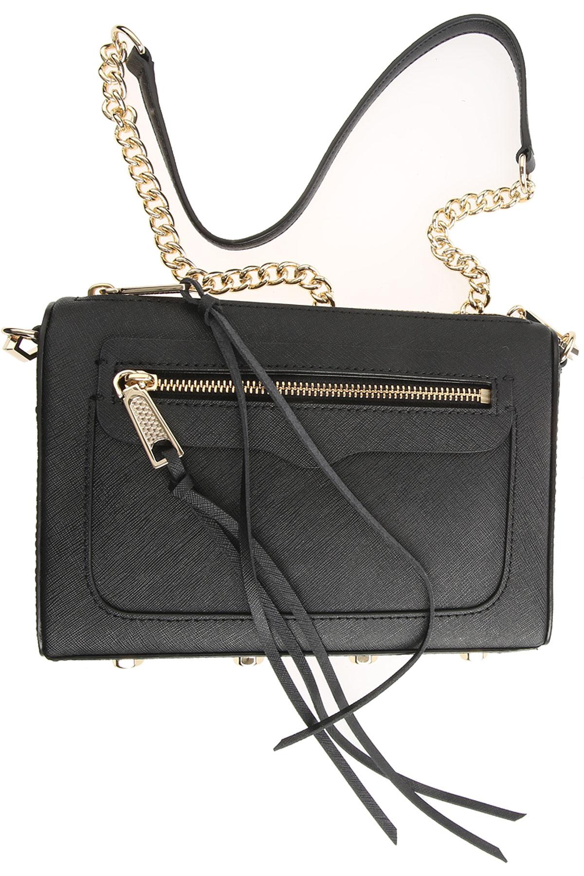 Rebecca Minkoff Shoulder Bag for Women On Sale, Black, Leather, 2017 USA-378534