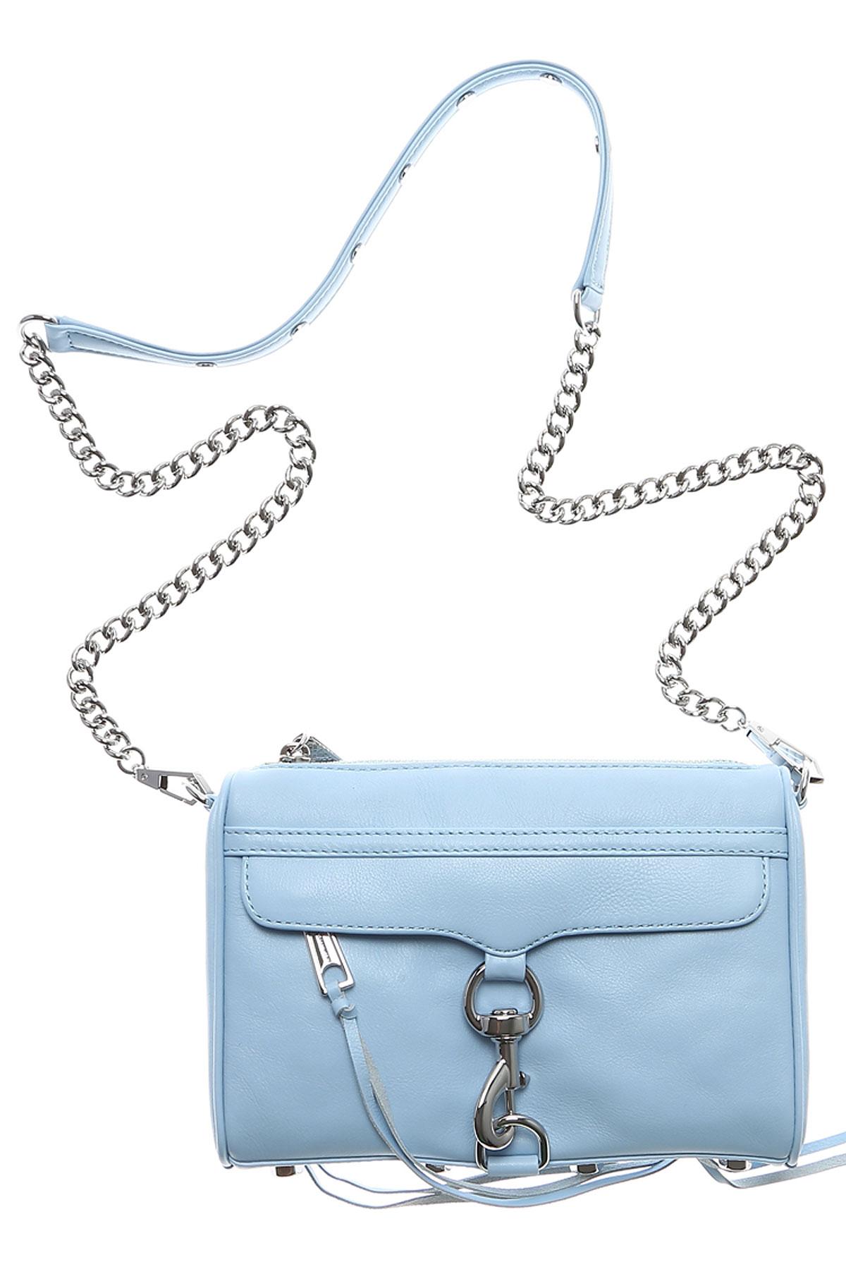 Rebecca Minkoff Shoulder Bag for Women On Sale, Light Blue, Leather, 2017 USA-363022