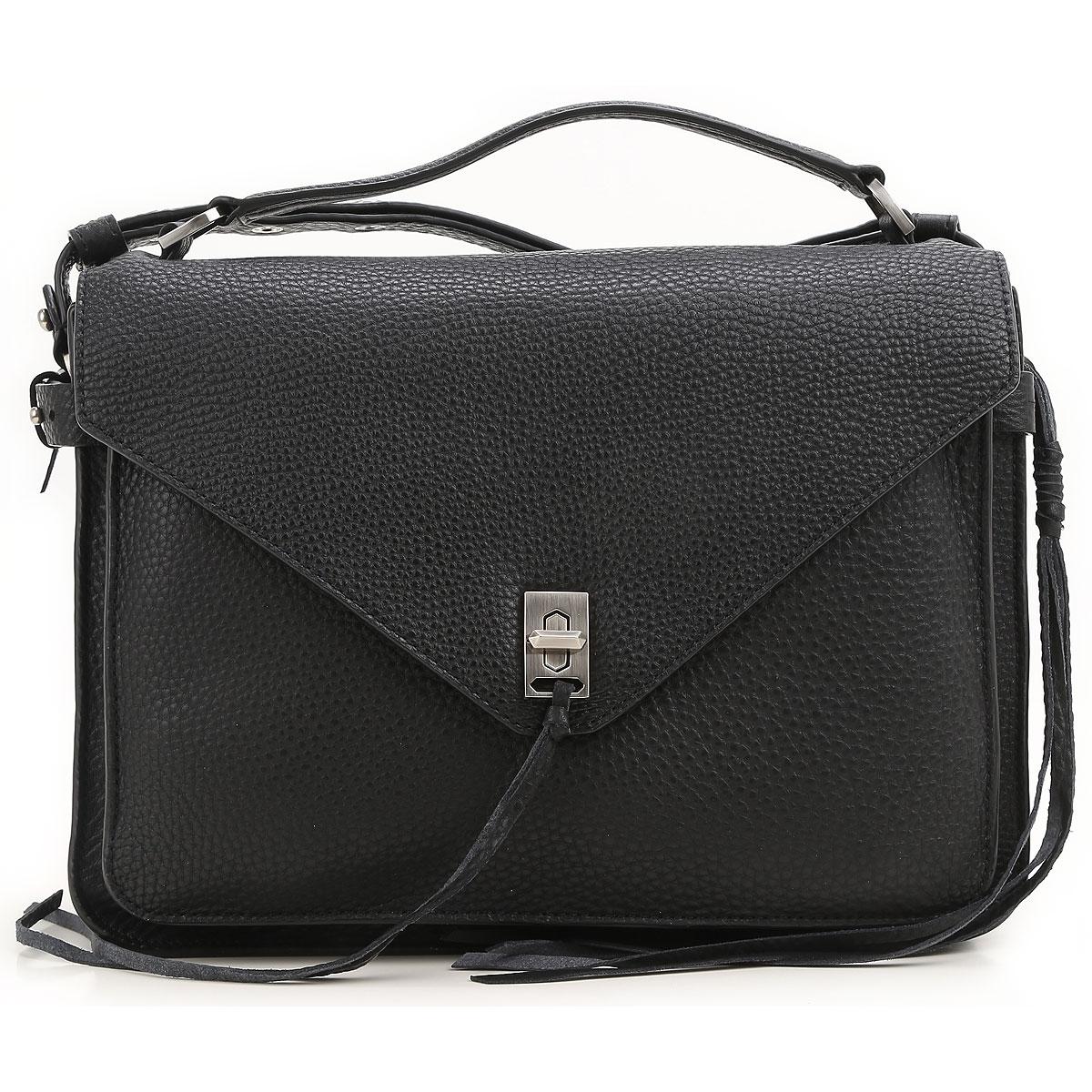 Rebecca Minkoff Shoulder Bag for Women On Sale, Black, Leather, 2017 USA-379577
