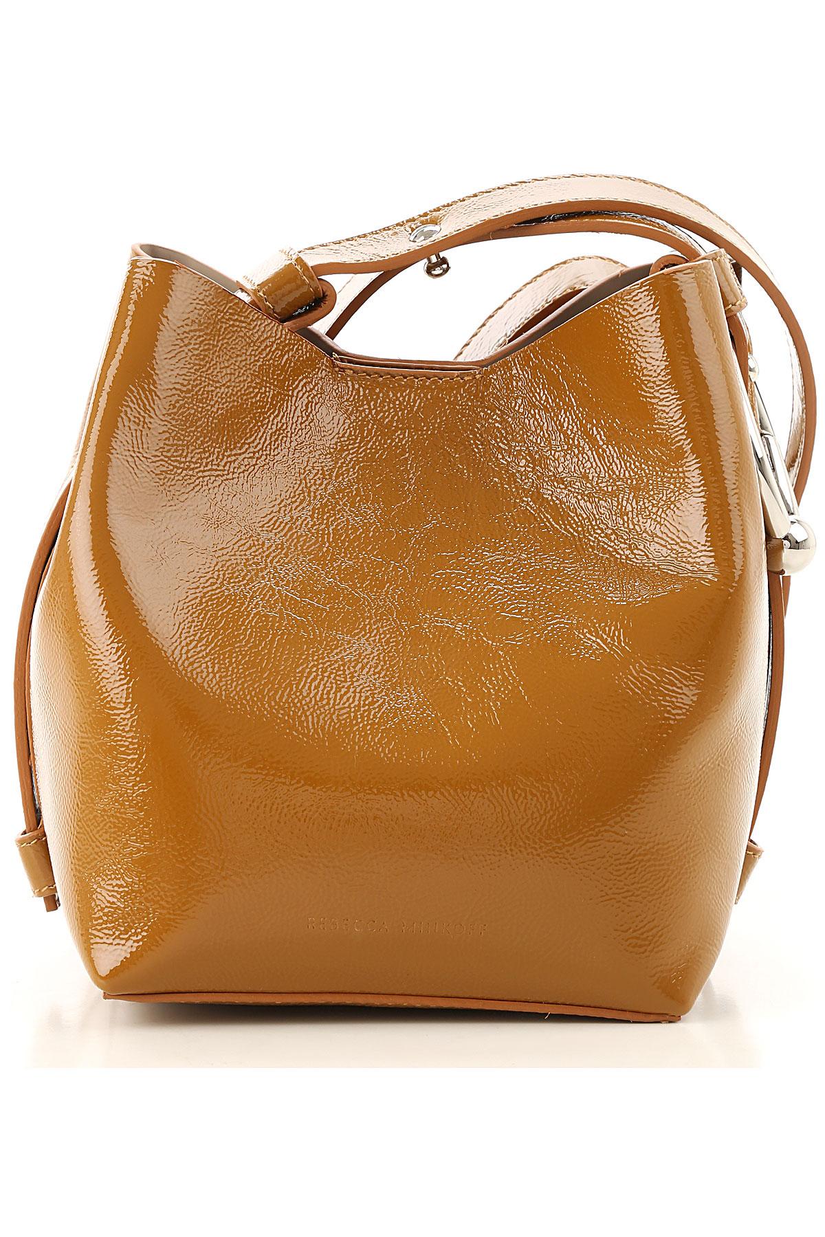 Rebecca Minkoff Shoulder Bag for Women On Sale, Brown, Patent Leather, 2019