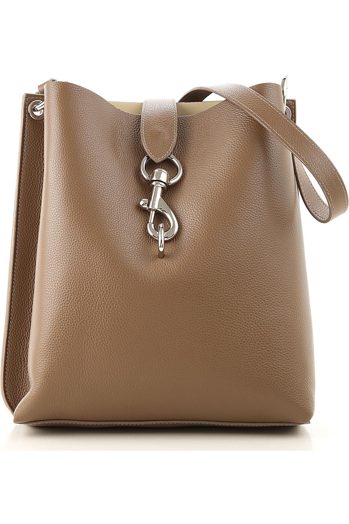 Rebecca Minkoff Shoulder Bag for Women On Sale, Brown, Leather, 2019