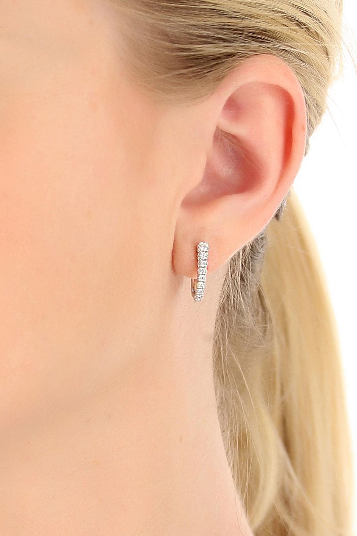 Image of Recarlo Earrings for Women, White Gold, 18 kt White Gold, 2017