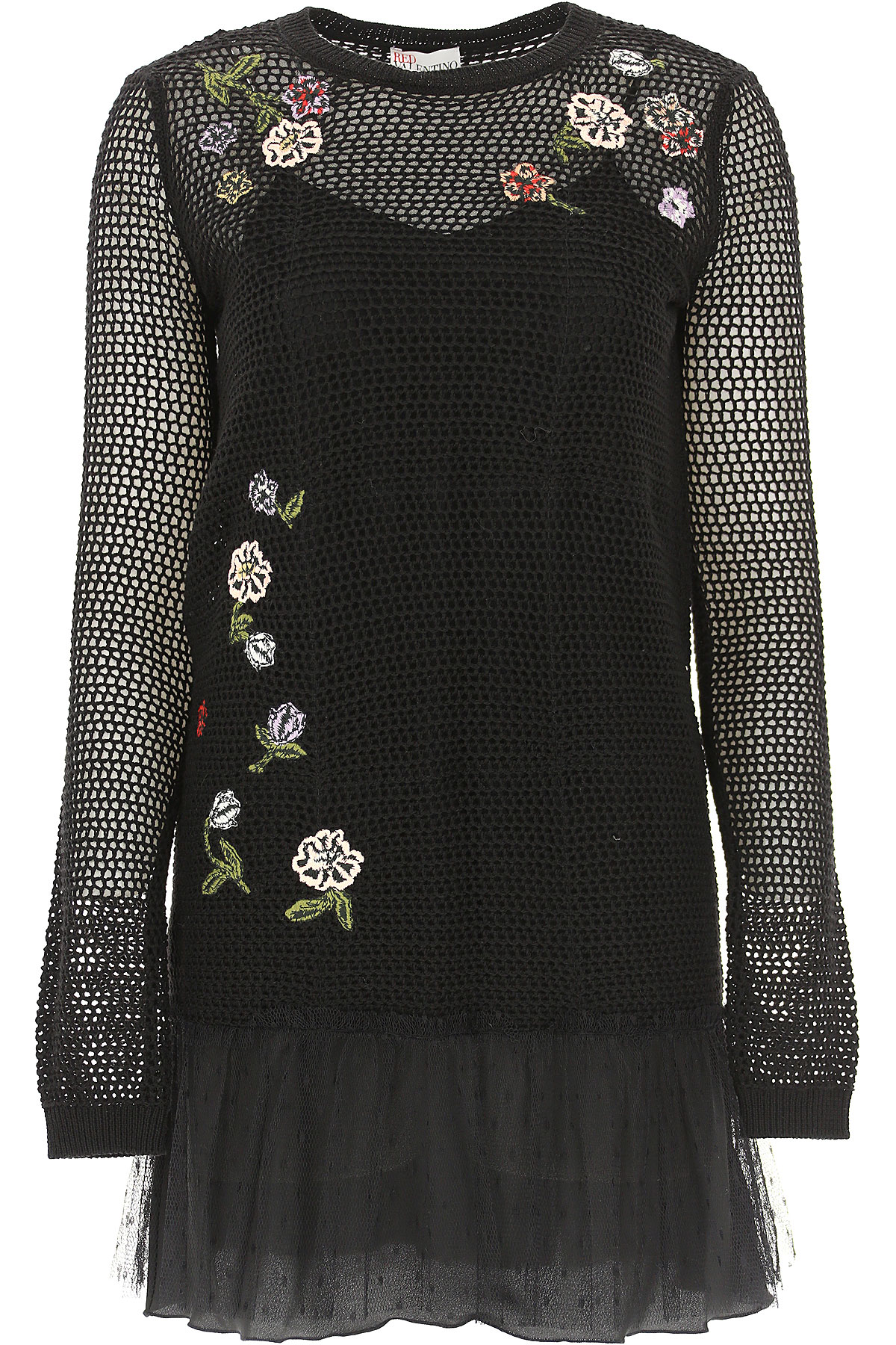 RED Valentino Dress for Women, Evening Cocktail Party On Sale in Outlet, Black, Virgin wool, 2019, 2 6