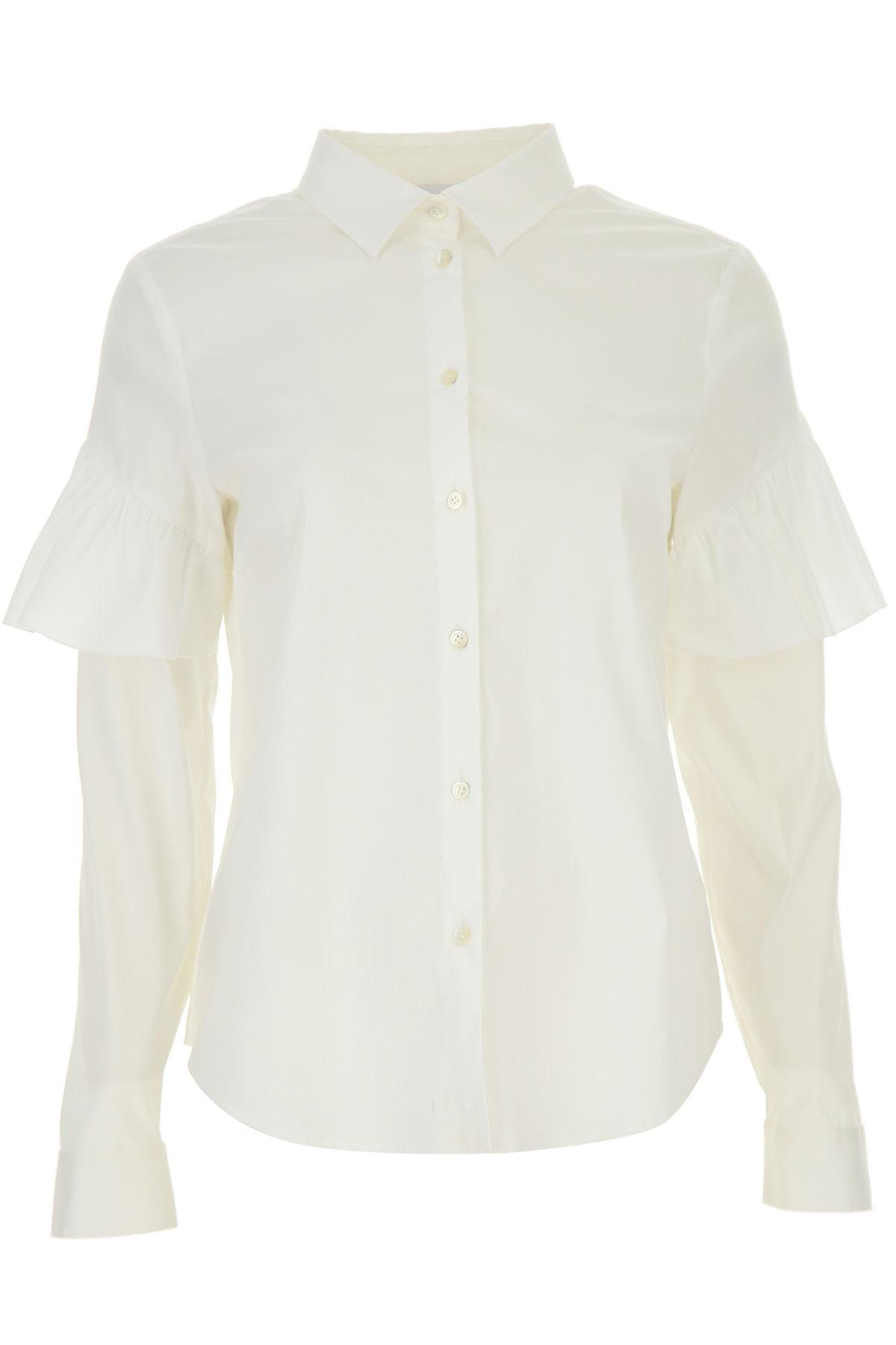RED Valentino Chemise Femme, Blanc, Coton, 2019, 44 46 M