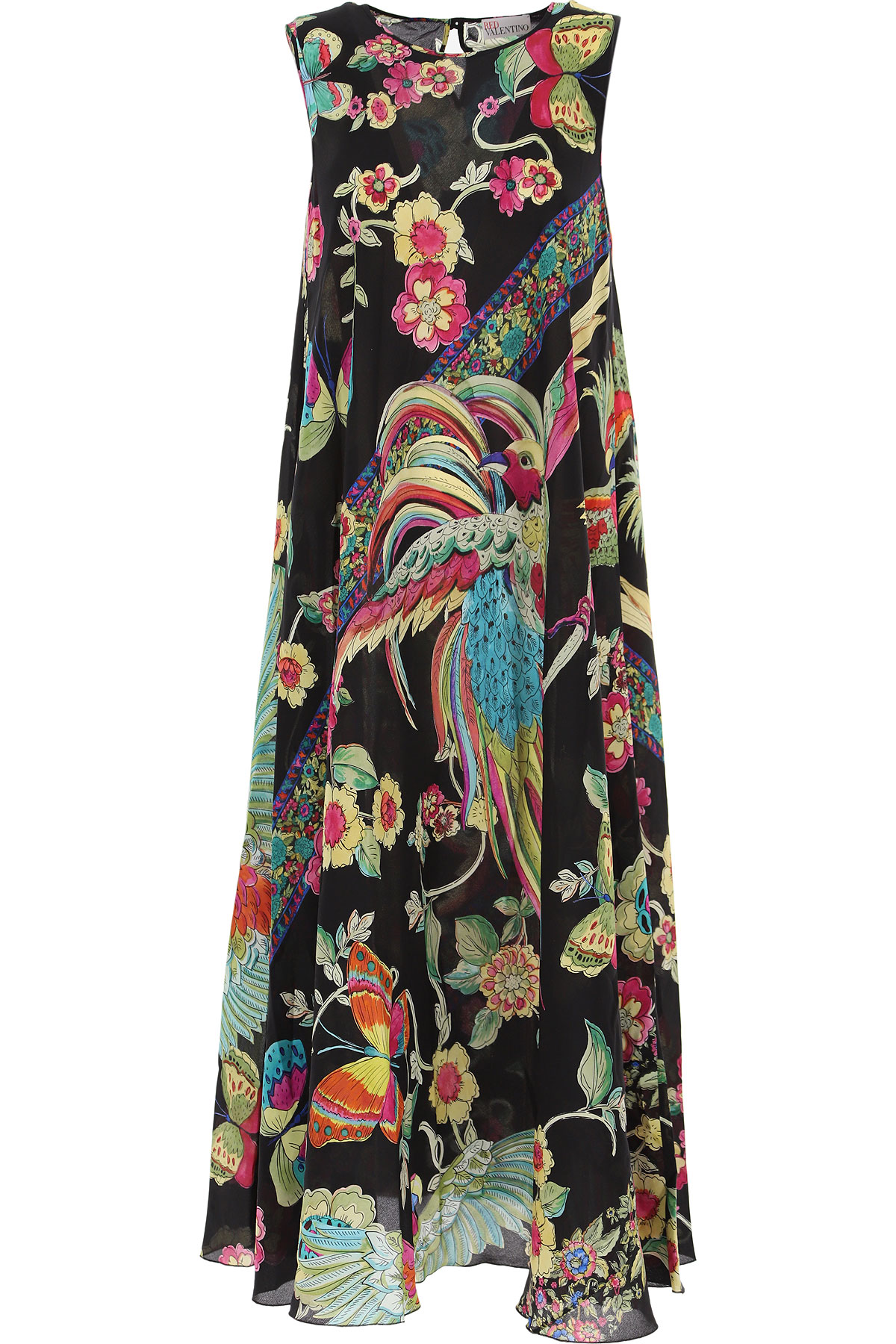 RED Valentino Dress for Women, Evening Cocktail Party On Sale, Black, Silk, 2019, 4 6 8