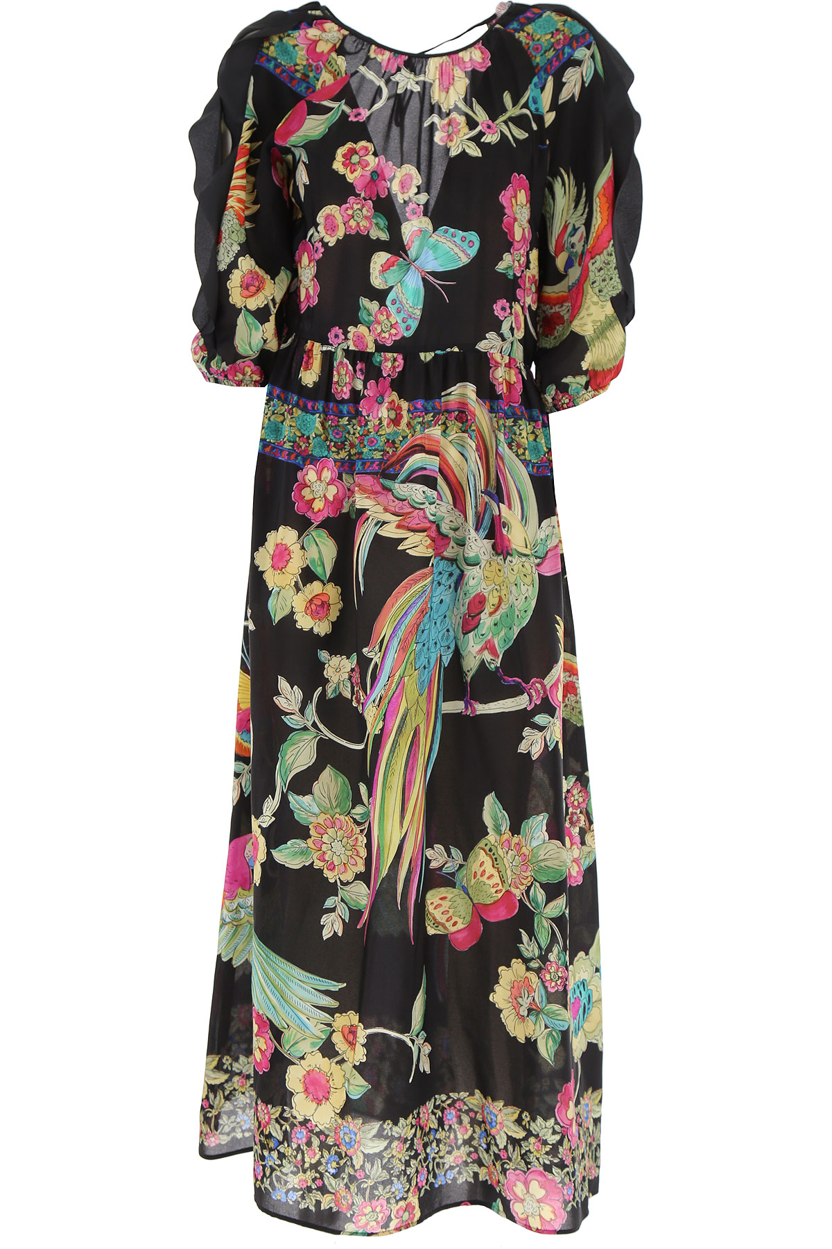RED Valentino Dress for Women, Evening Cocktail Party On Sale, Black, polyester, 2019, 2 4 6