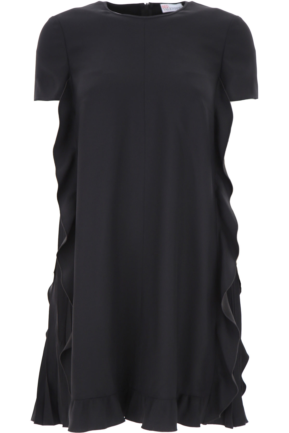 RED Valentino Dress for Women, Evening Cocktail Party On Sale, Black, acetate, 2019, 2 4 6 8