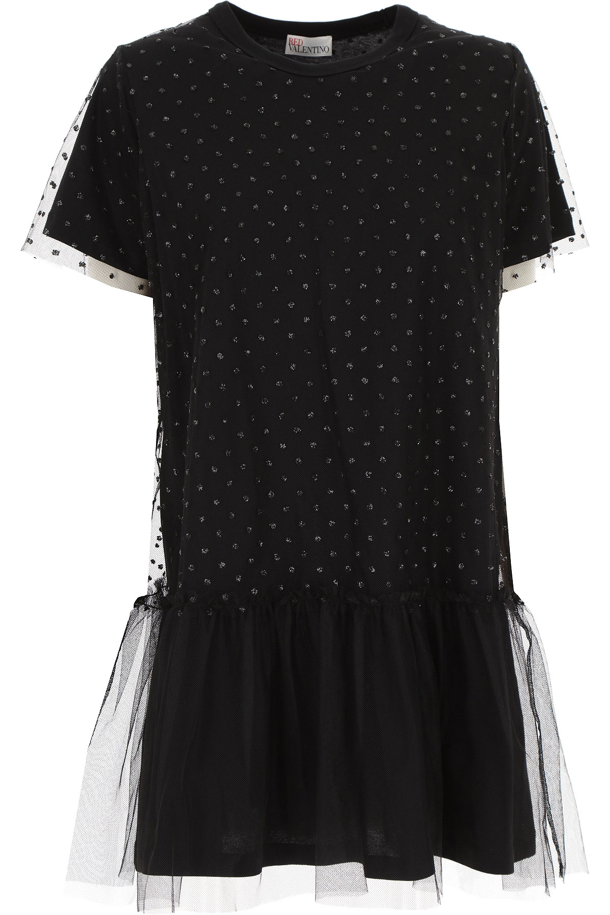 RED Valentino Dress for Women, Evening Cocktail Party On Sale, Black, polyamide, 2019, 4 6