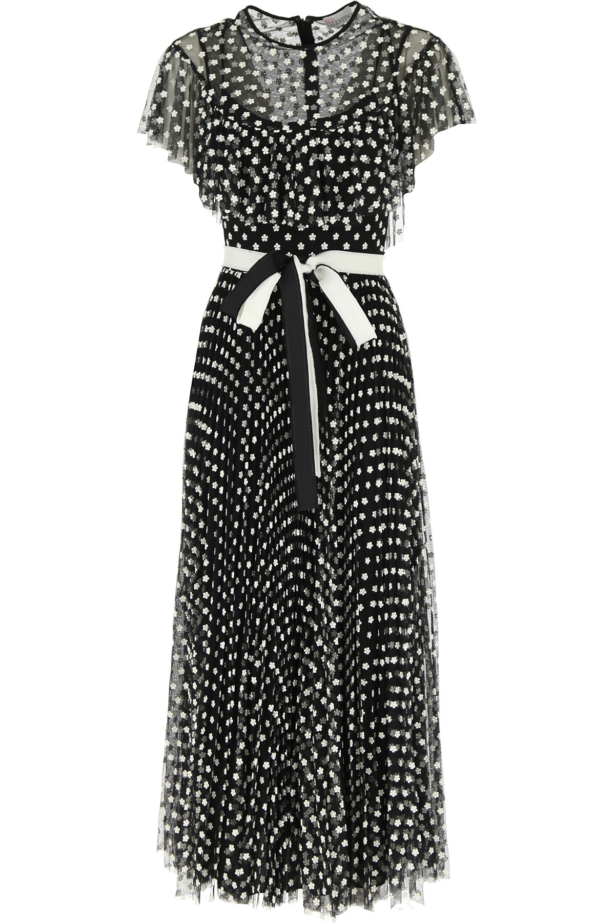 RED Valentino Dress for Women, Evening Cocktail Party On Sale, Black, polyestere, 2019, 4 6 8