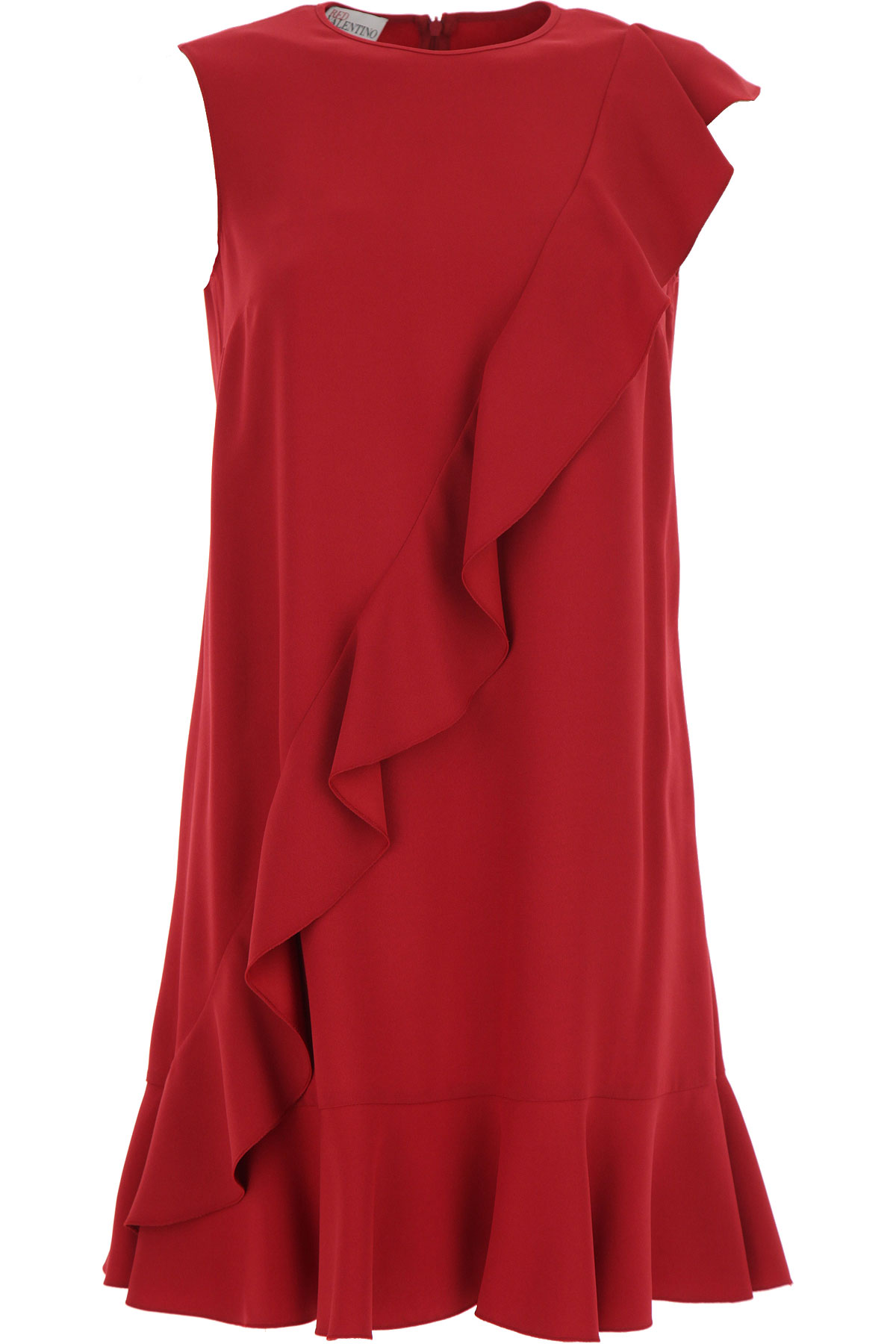RED Valentino Dress for Women, Evening Cocktail Party On Sale, Currant, acetate, 2019, 10 4 8