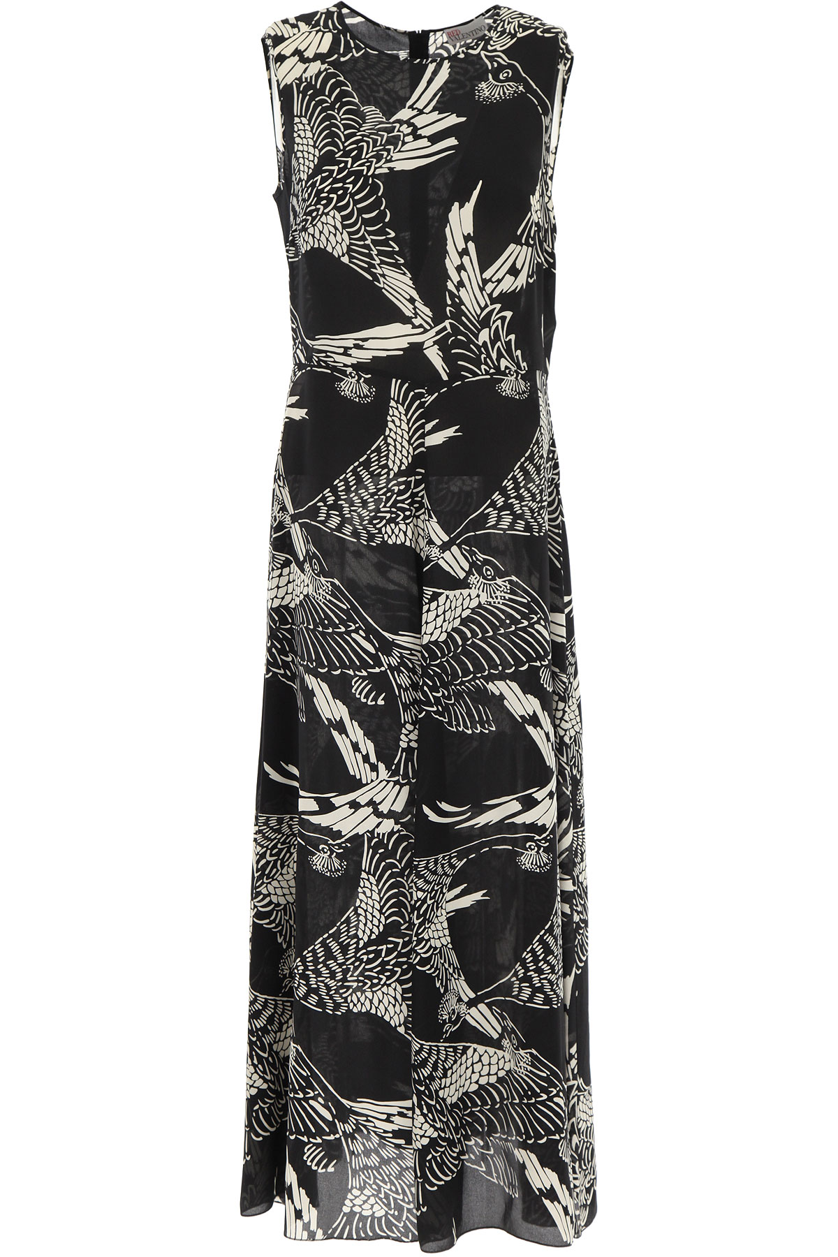 RED Valentino Dress for Women, Evening Cocktail Party On Sale, Black, Silk, 2019, 6 8