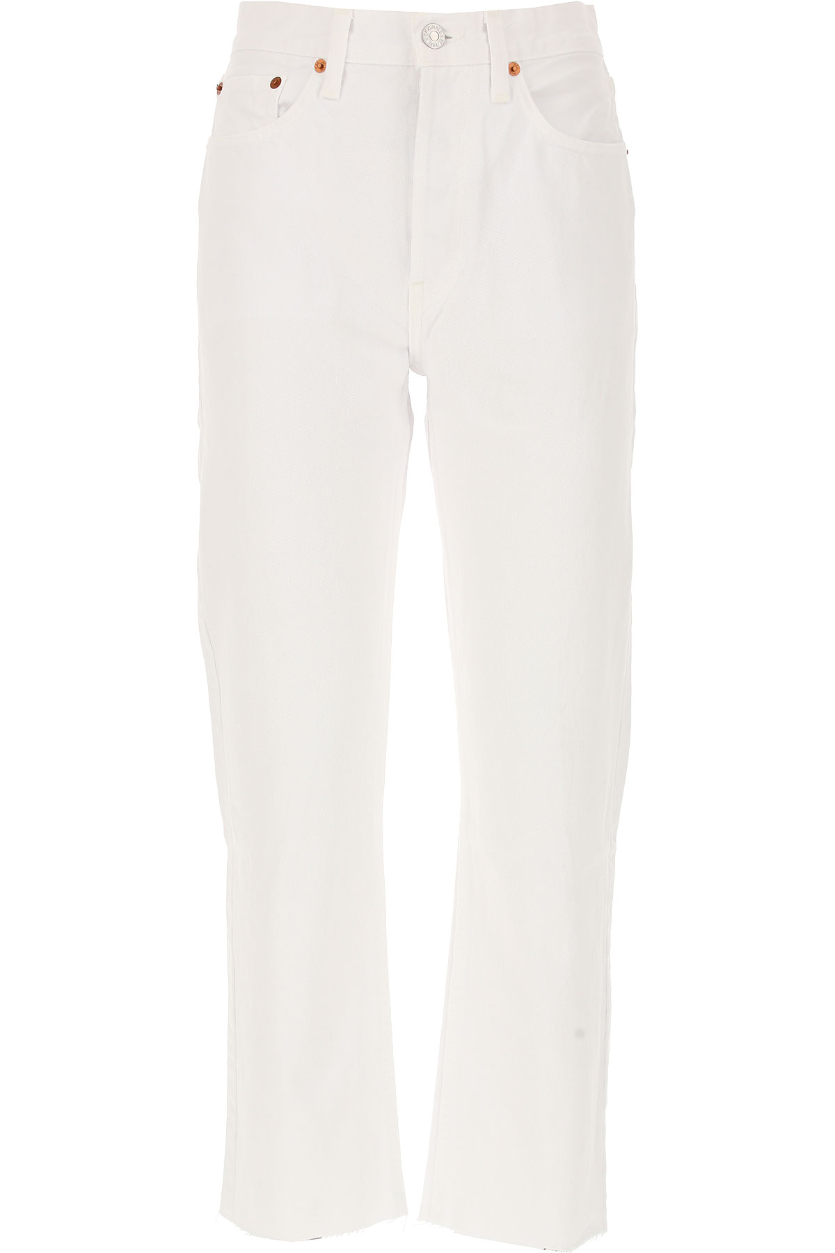 Image of RE/DONE Jeans, White, Cotton, 2017, 25 26 27 28 29