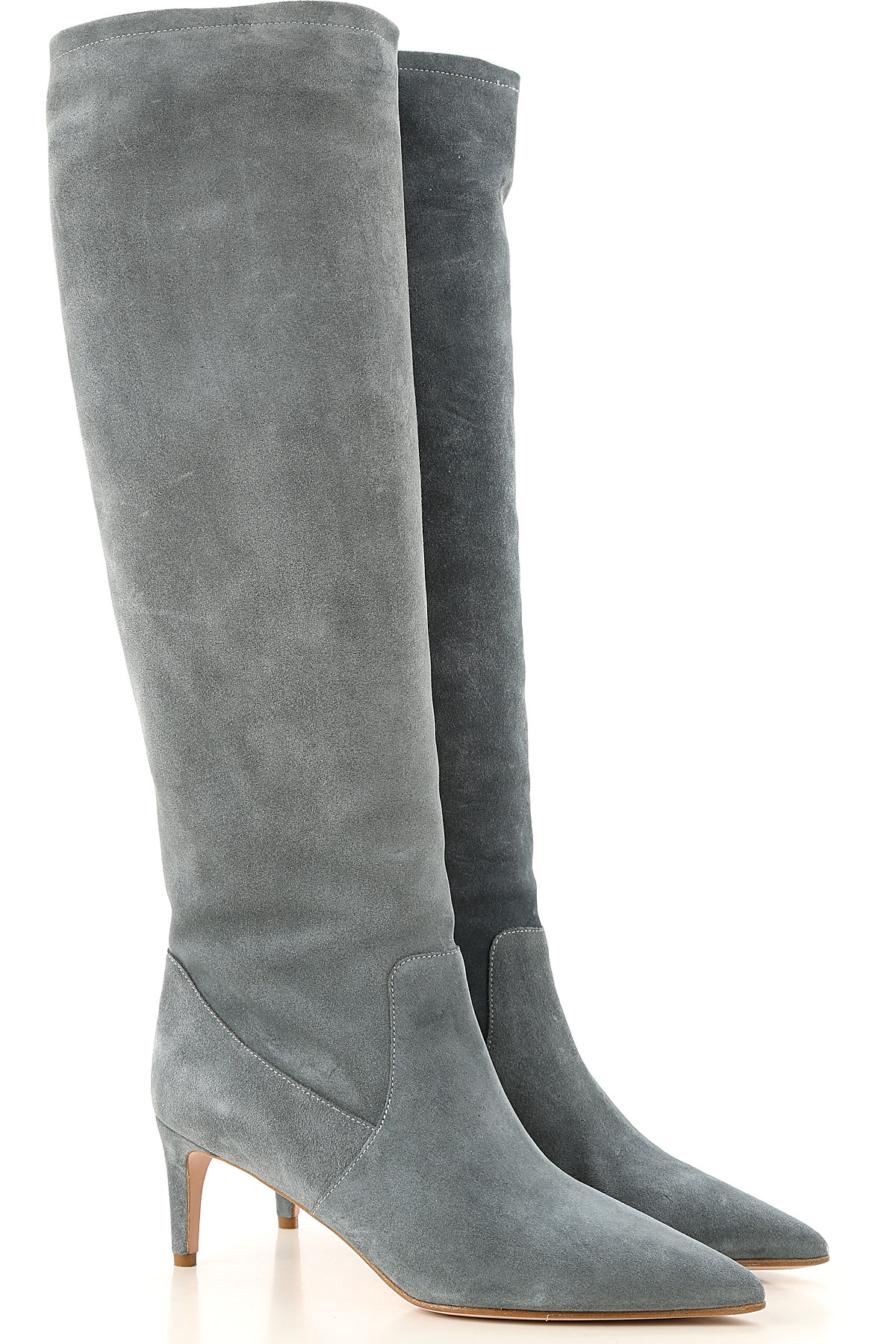 RED Valentino Boots for Women, Booties On Sale, Powder Grey, Suede leather, 2019, 10 6 7 9