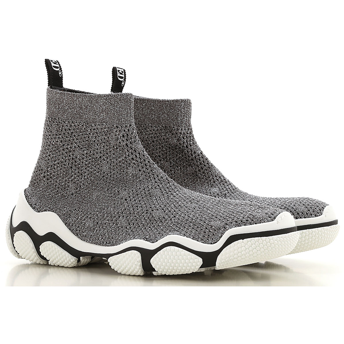 RED Valentino Boots for Women, Booties On Sale, Silver, Fabric, 2019, 10 6 7 9