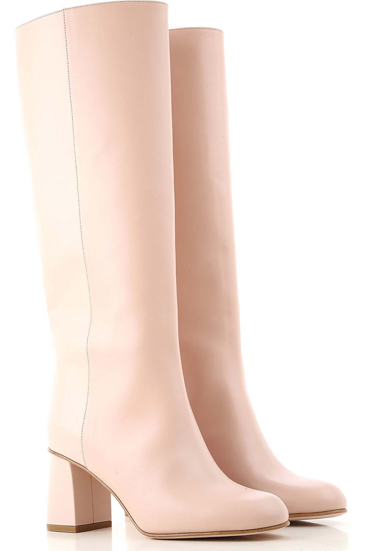 RED Valentino Boots for Women, Booties On Sale, Light Nude, Leather, 2019, 11 9