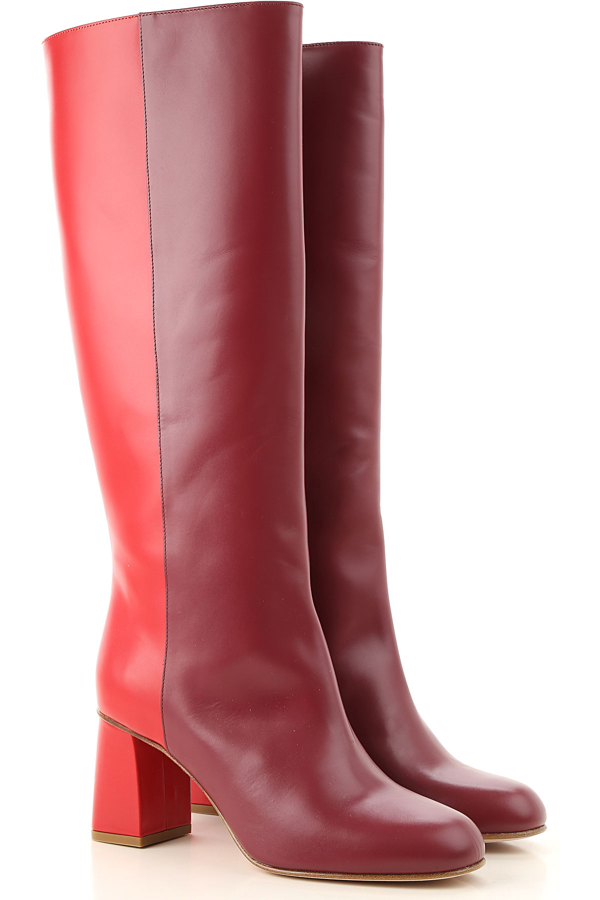 RED Valentino Boots for Women, Booties On Sale in Outlet, Red, Leather, 2019, 7 9