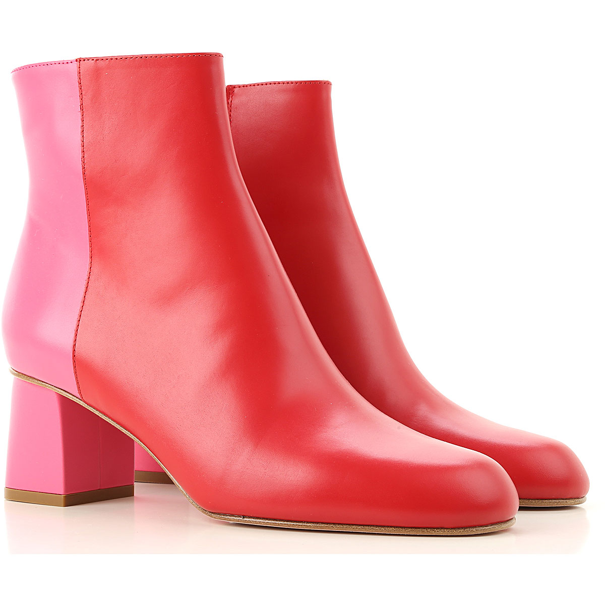 RED Valentino Boots for Women, Booties On Sale, Red, Leather, 2019, 11 6 7 8 9