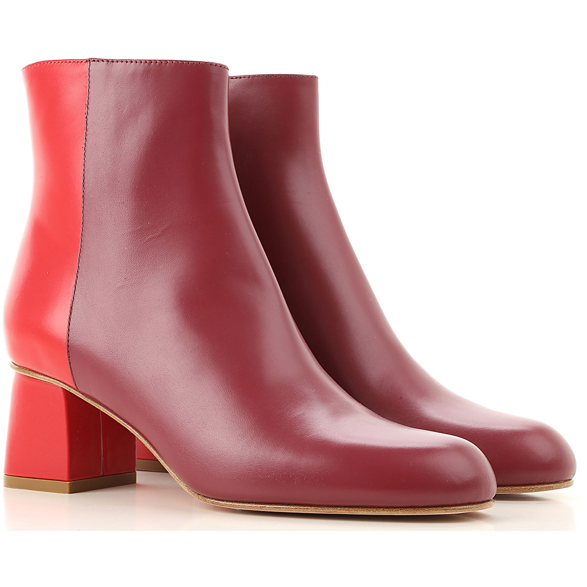 RED Valentino Boots for Women, Booties On Sale, Dark Red, Leather, 2019, 10 7 8 8.5 9