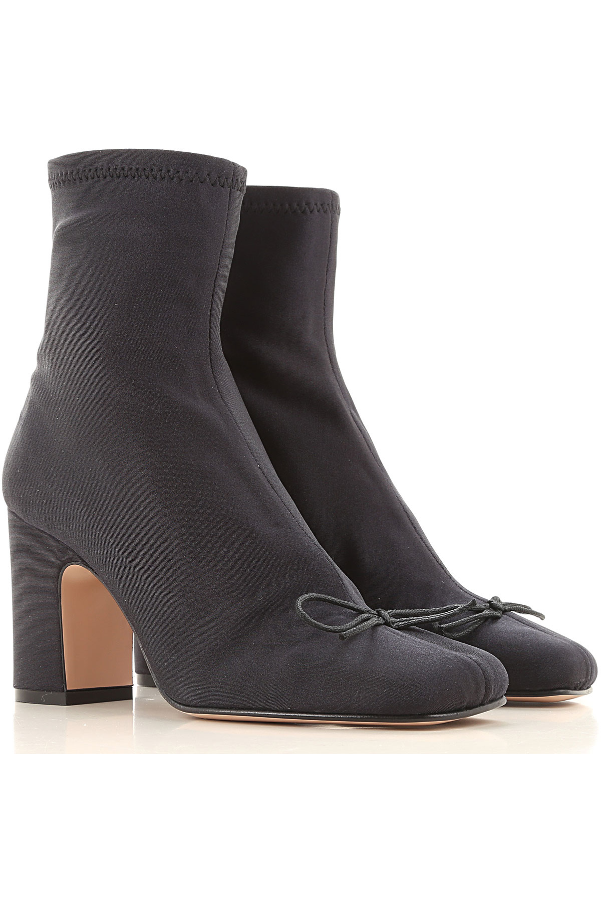 RED Valentino Boots for Women, Booties On Sale, Black, Stretch Fabric, 2019, 10 6 7 8 9 9