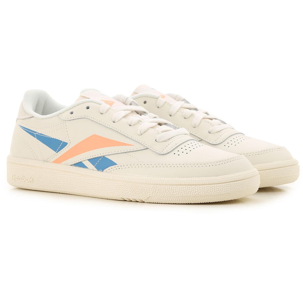 Reebok Sneakers for Women On Sale, Chalk, Leather, 2019, US 6 - UK 3 5 - EU 36 - JP 22 5 US 6 5 - UK 4 - EU 37 - JP 23 US 9 - UK 6 5 - EU 40 - JP 25 5