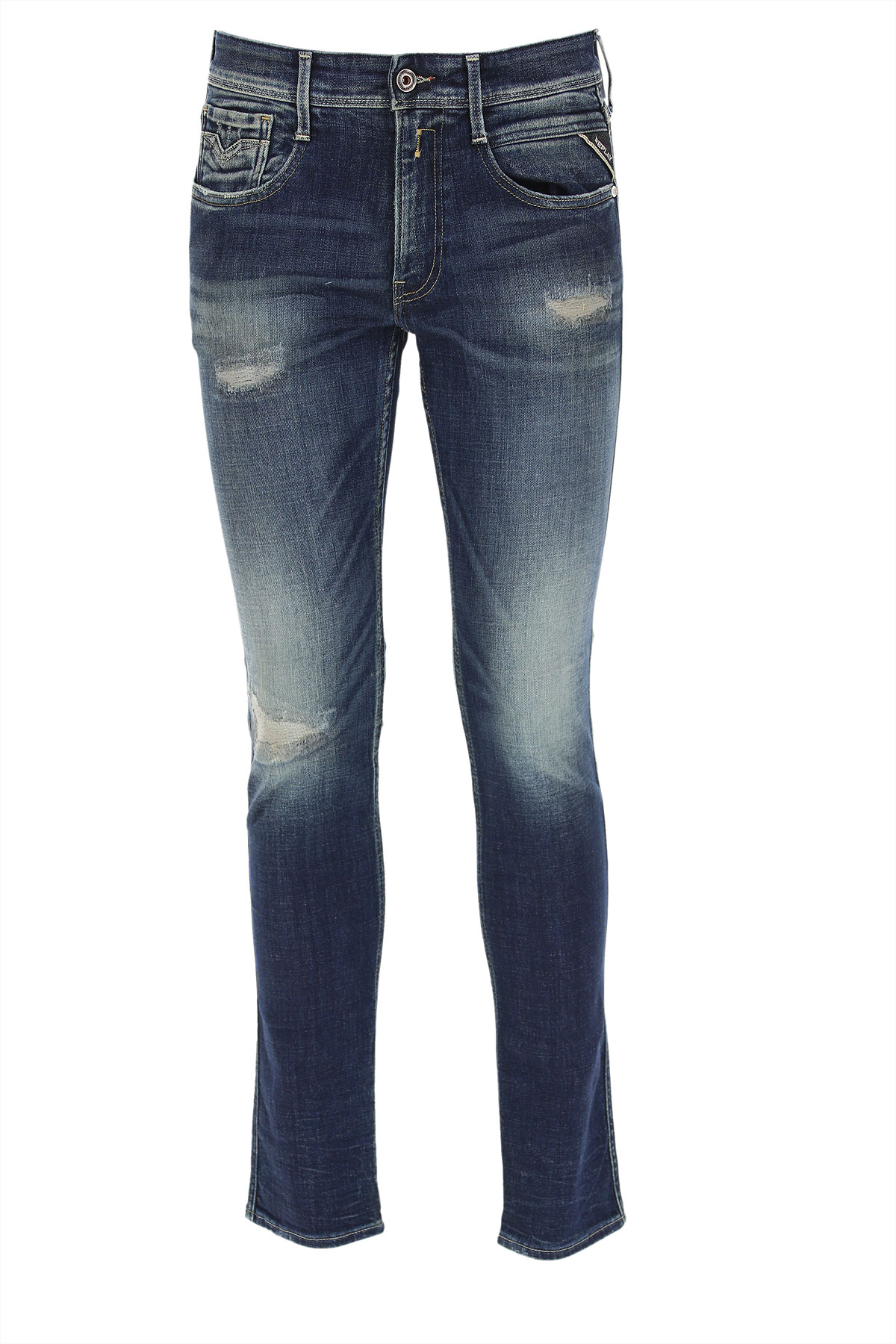Replay Jeans On Sale, Blue Denim, Cotton, 2019, 30 31 32 33 34 36 38