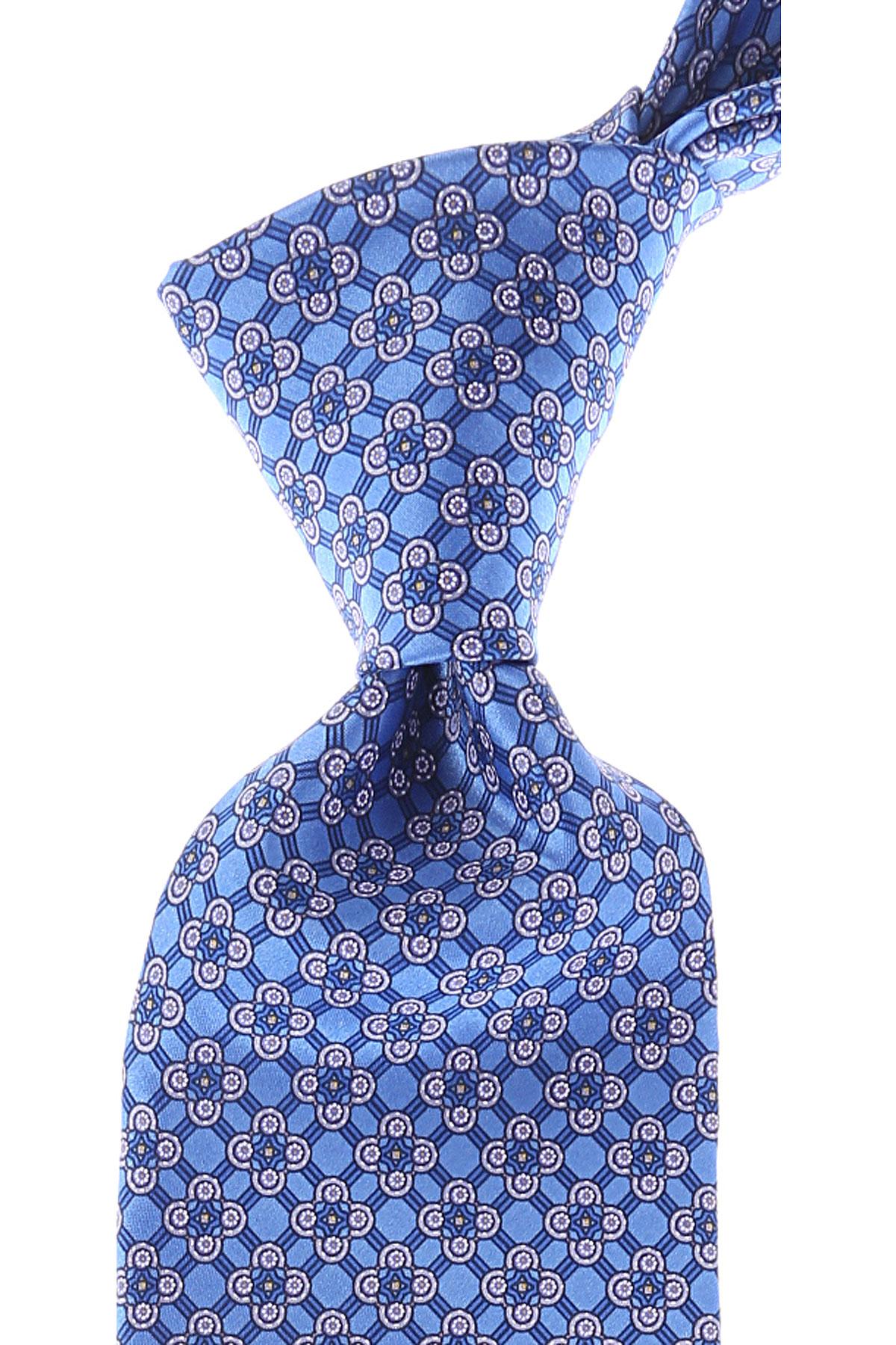 Stefano Ricci Ties On Sale, Light Sky Blue, Silk, 2019
