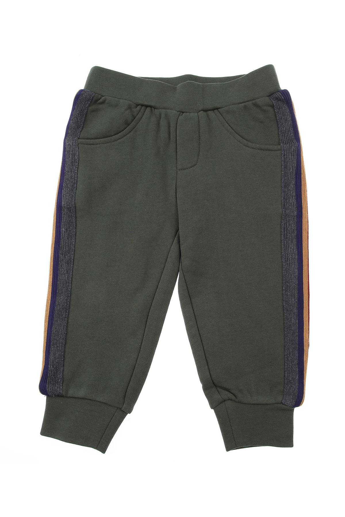John Richmond Baby Sweatpants for Boys On Sale, Military Green, Cotton, 2019, 12 M 18 M 2Y 3Y 6M 9 M