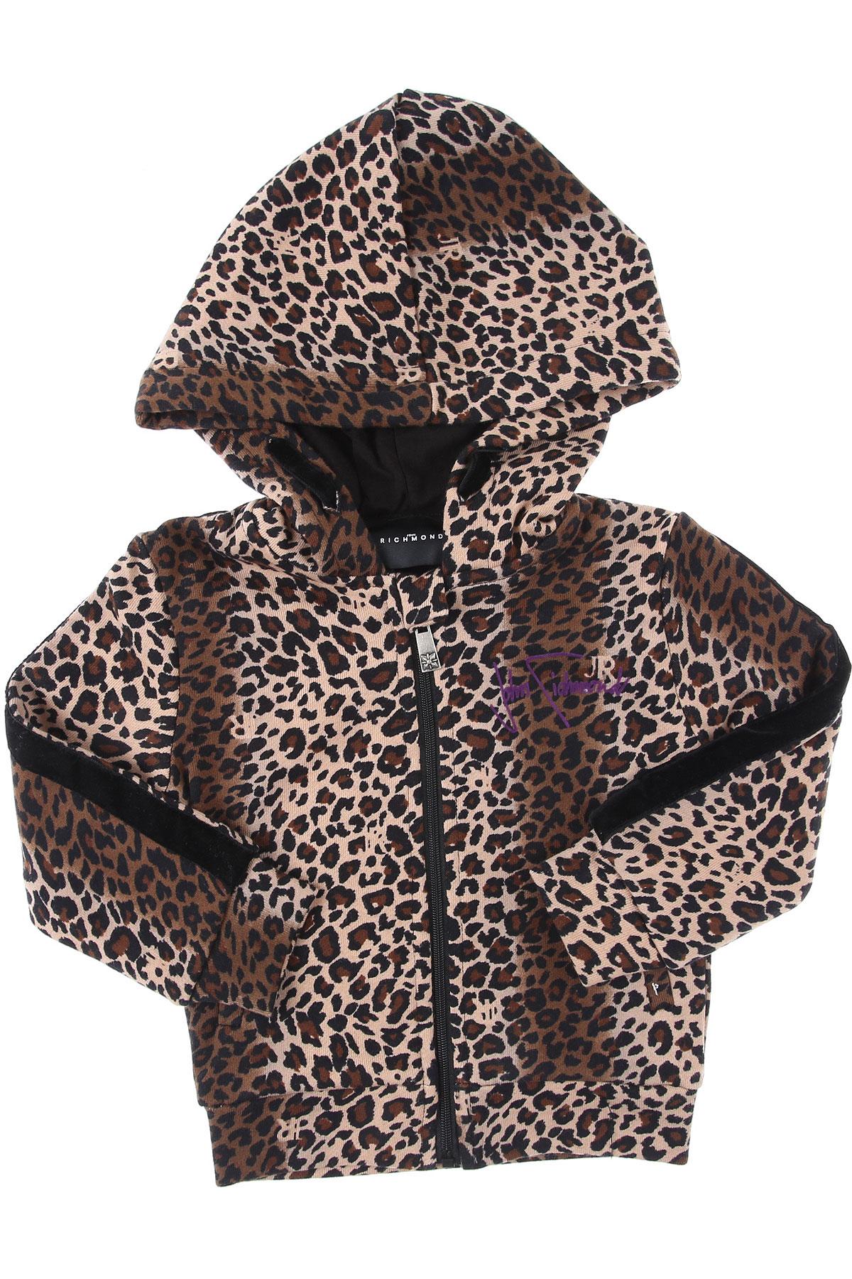 John Richmond Baby Sweatshirts & Hoodies for Girls On Sale, Animalier, Cotton, 2019, 12M 2Y 3Y 9M