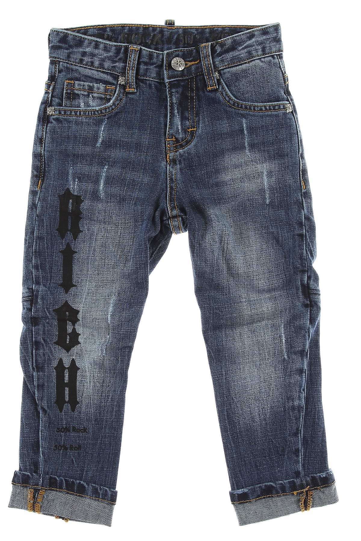 Image of John Richmond Kids Jeans for Girls, Blue Denim, Cotton, 2017, 10Y 14Y 16Y 2Y 4Y 6Y 8Y