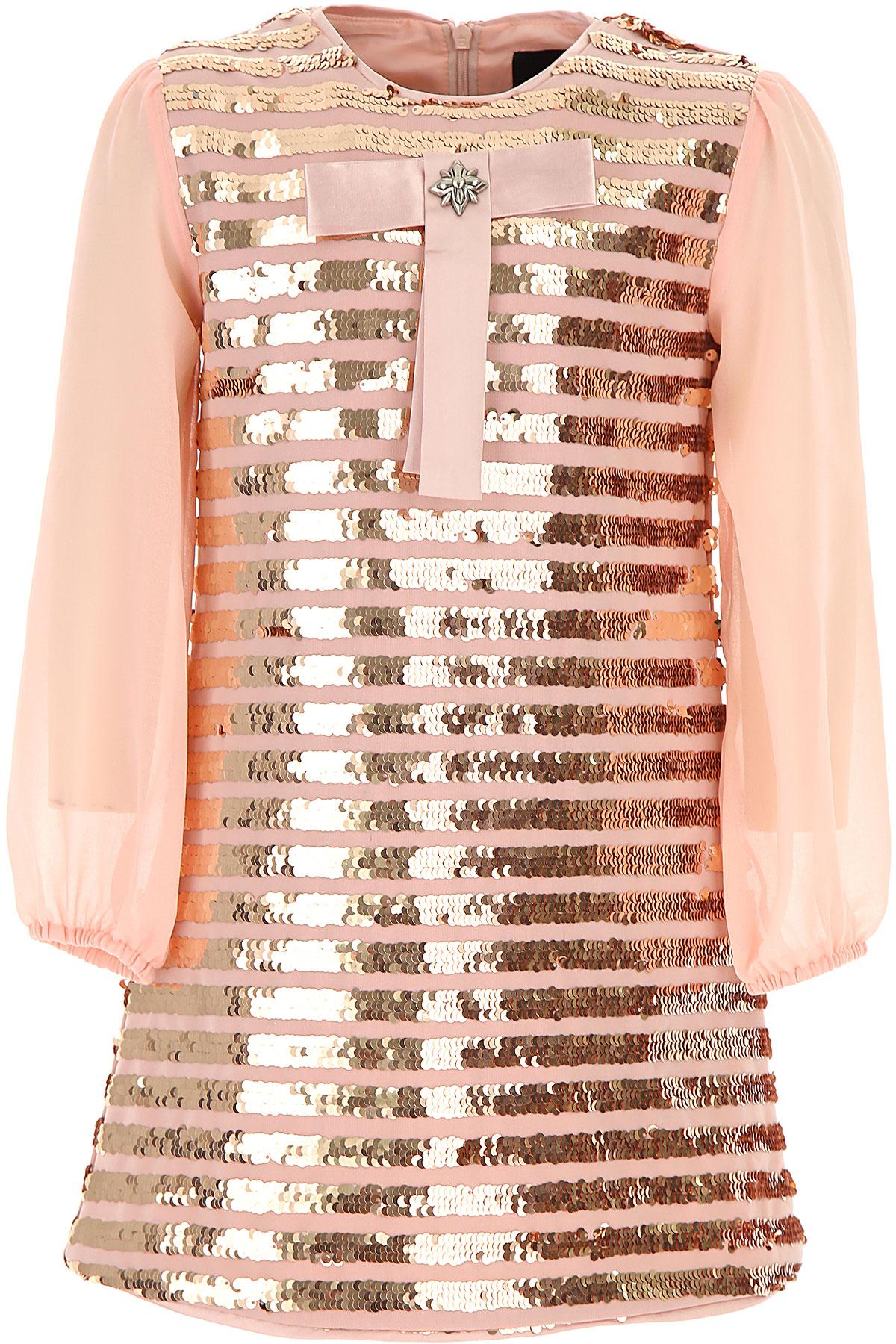 Image of John Richmond Girls Dress, Pink, polyester, 2017, 10Y 14Y 16Y 2Y 4Y 6Y 8Y