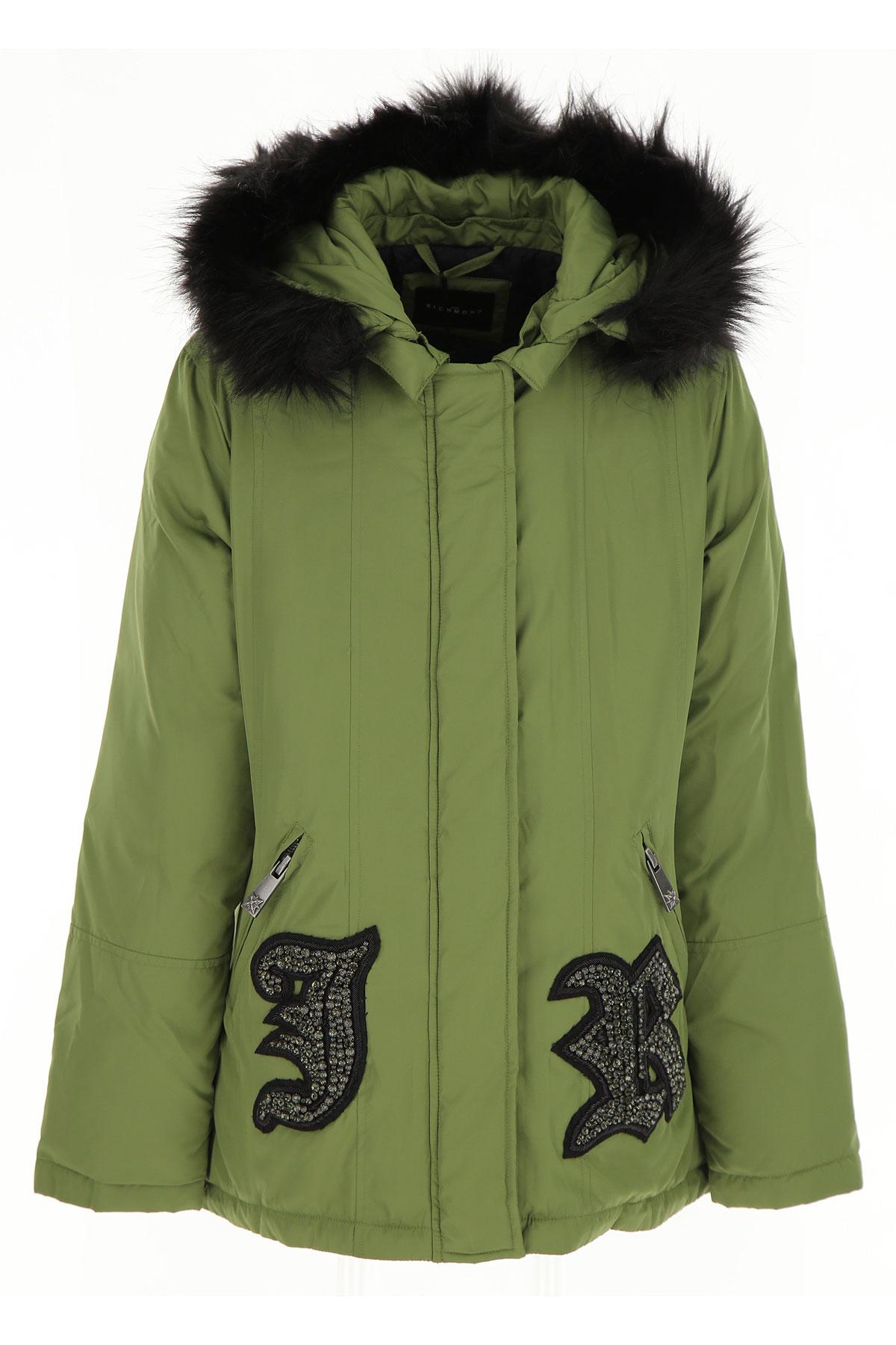 Image of John Richmond Girls Down Jacket for Kids, Puffer Ski Jacket, Green, polyester, 2017, 16Y 8Y