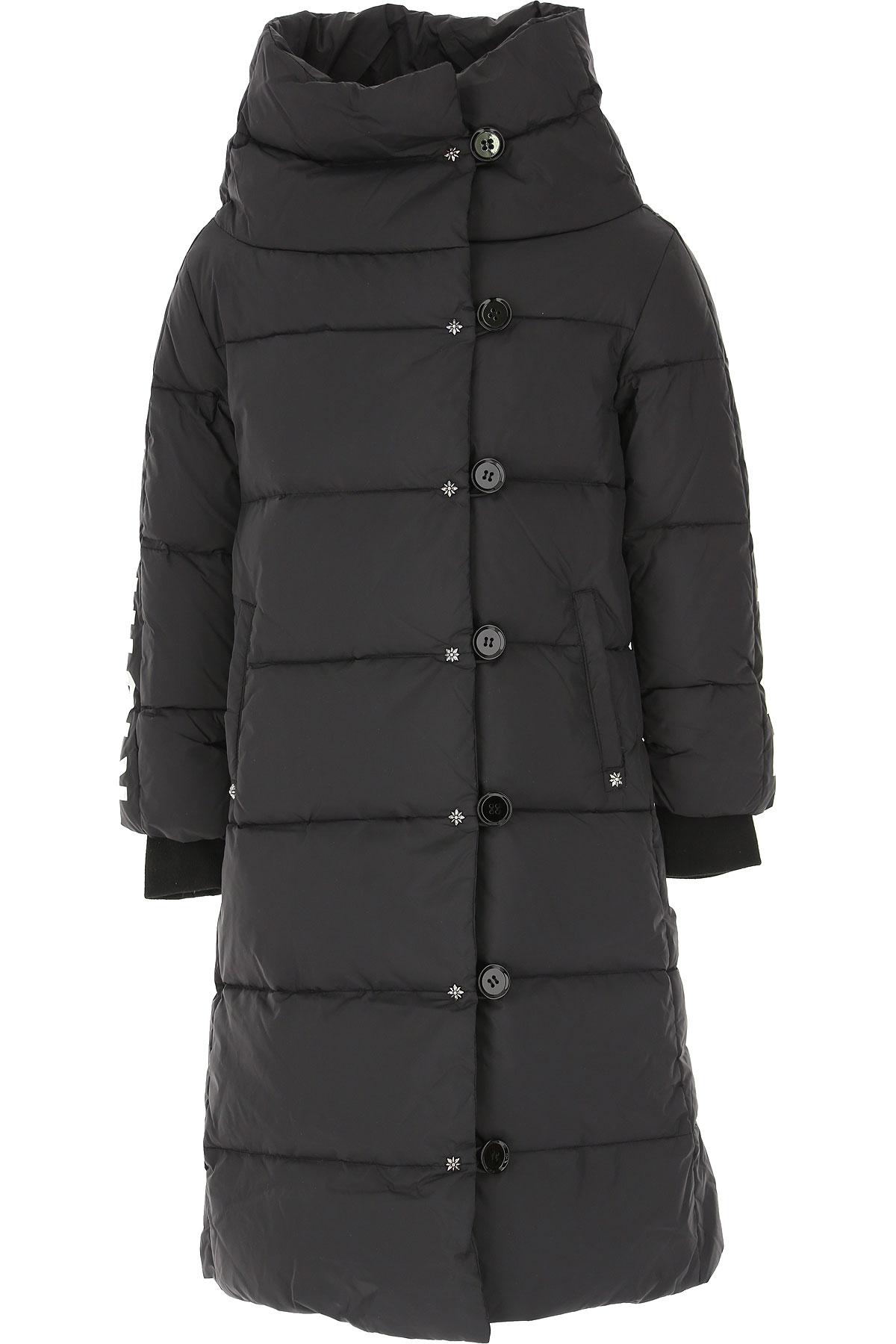 John Richmond Girls Down Jacket for Kids, Puffer Ski Jacket On Sale, Black, Nylon, 2019, 10Y 12Y 14Y 16Y 8Y